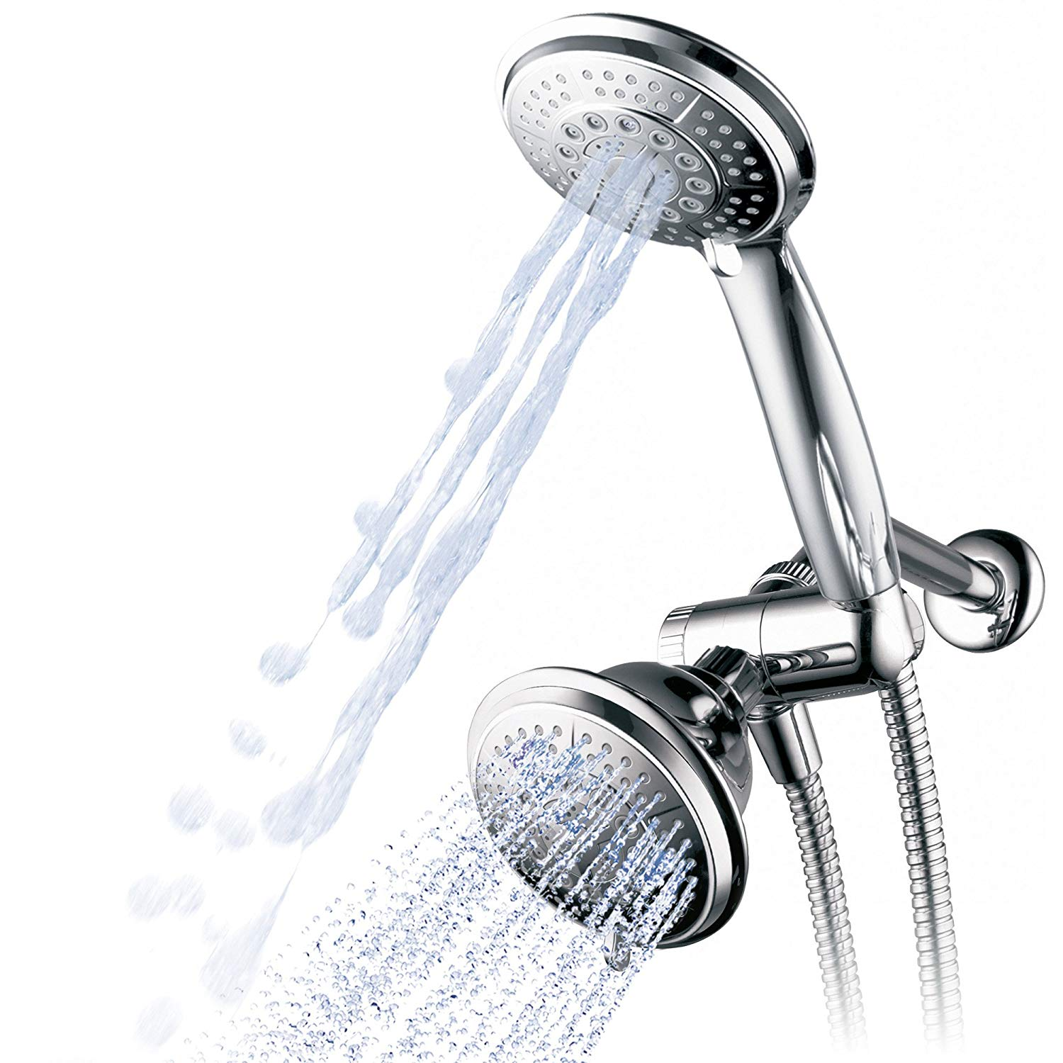 Details About Hydroluxe 1433 Handheld Showerhead And Rain Shower Combo High Pressure 24 4 2
