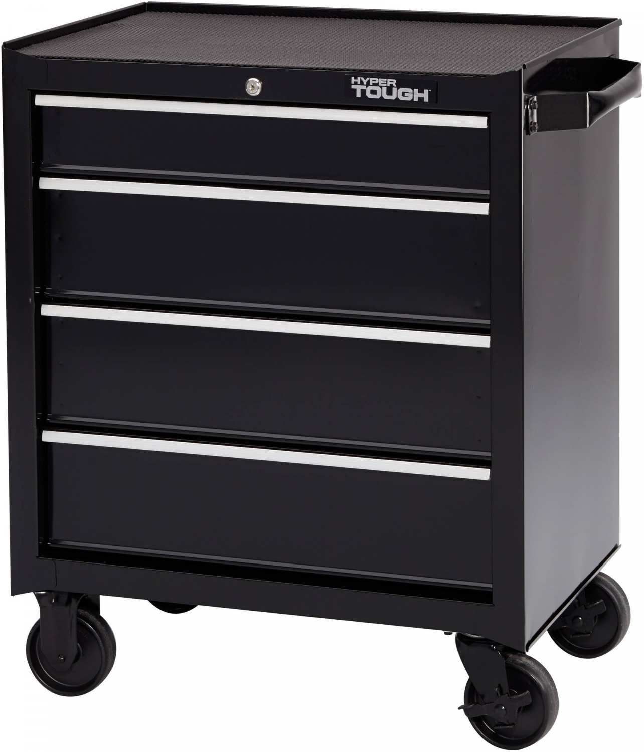 4 Drawers Tool Box Chest Cart W Wheels Metal Roll Around Rolling