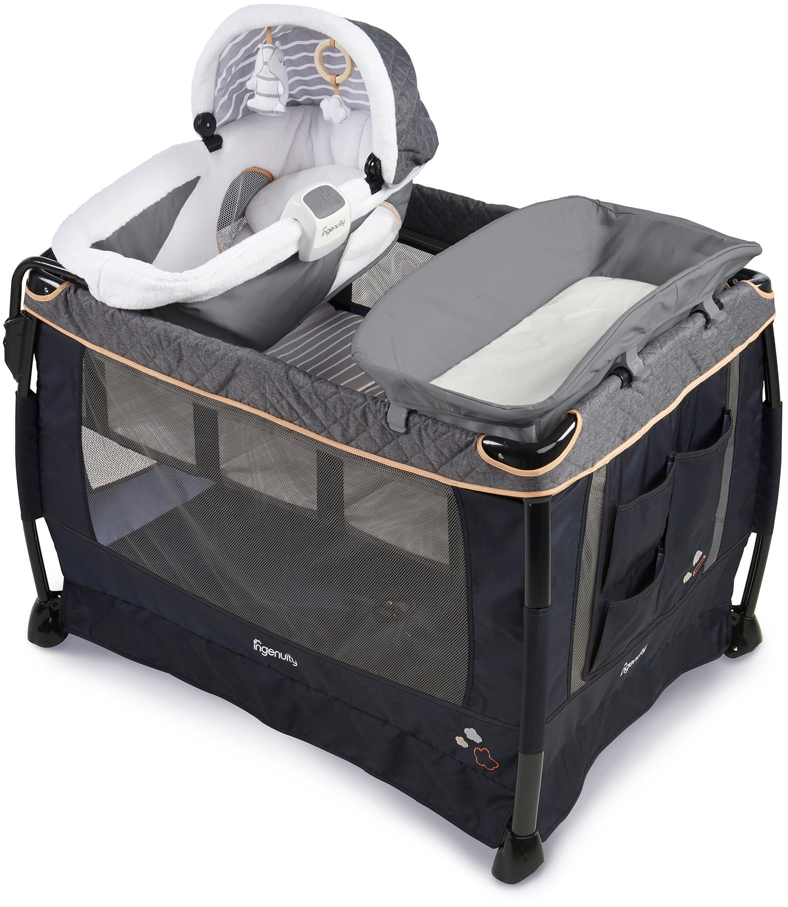 Ingenuity Smart and Simple Boutique Playard in Bella Teddy ...
