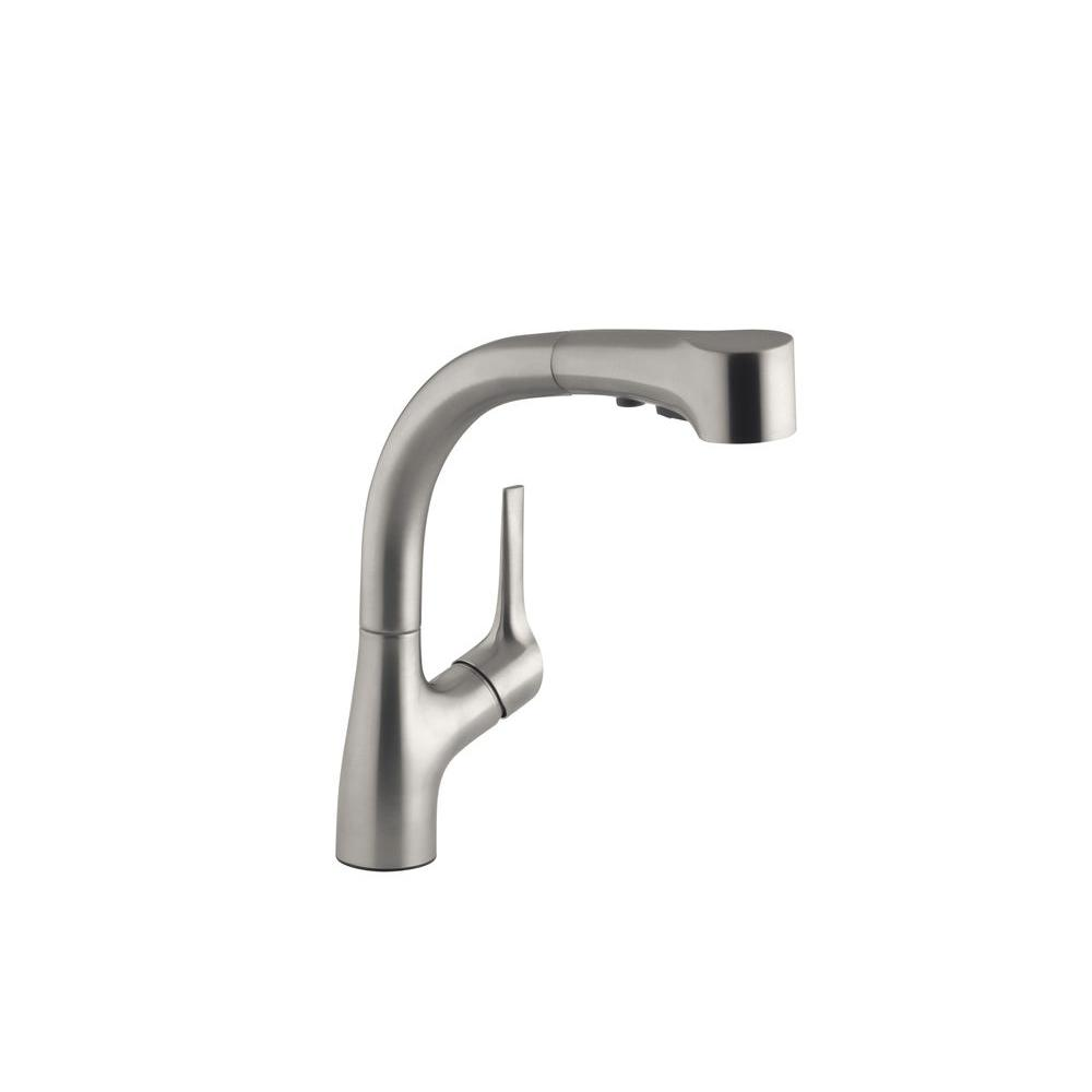 Details About Kohler Kitchen Faucet Pull Out Spray Wand 1 Handle Deck Mount Vibrant Stainless