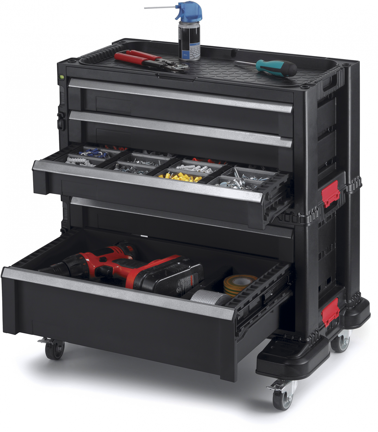 Rolling Tool Chest Box 5 Drawer Cabinet Tools Organizer