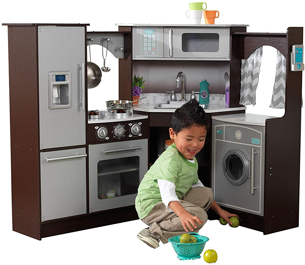 Details About Kidkraft Ultimate Corner Play Kitchen With Lights And Sounds Boy Girl Toy Gift