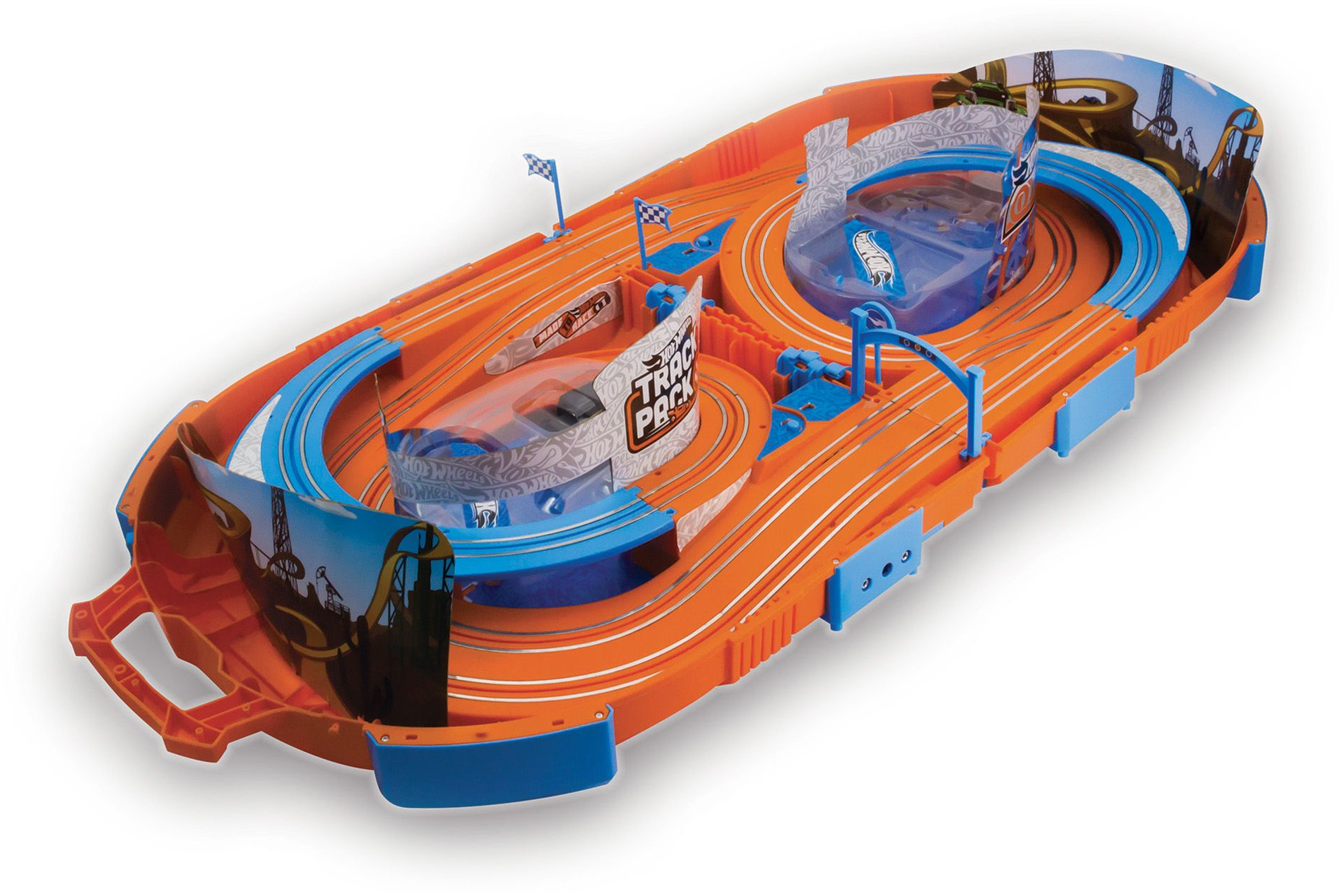 Details About Kidztech Hot Wheels Electric 9 1 Foot Race Track Playset