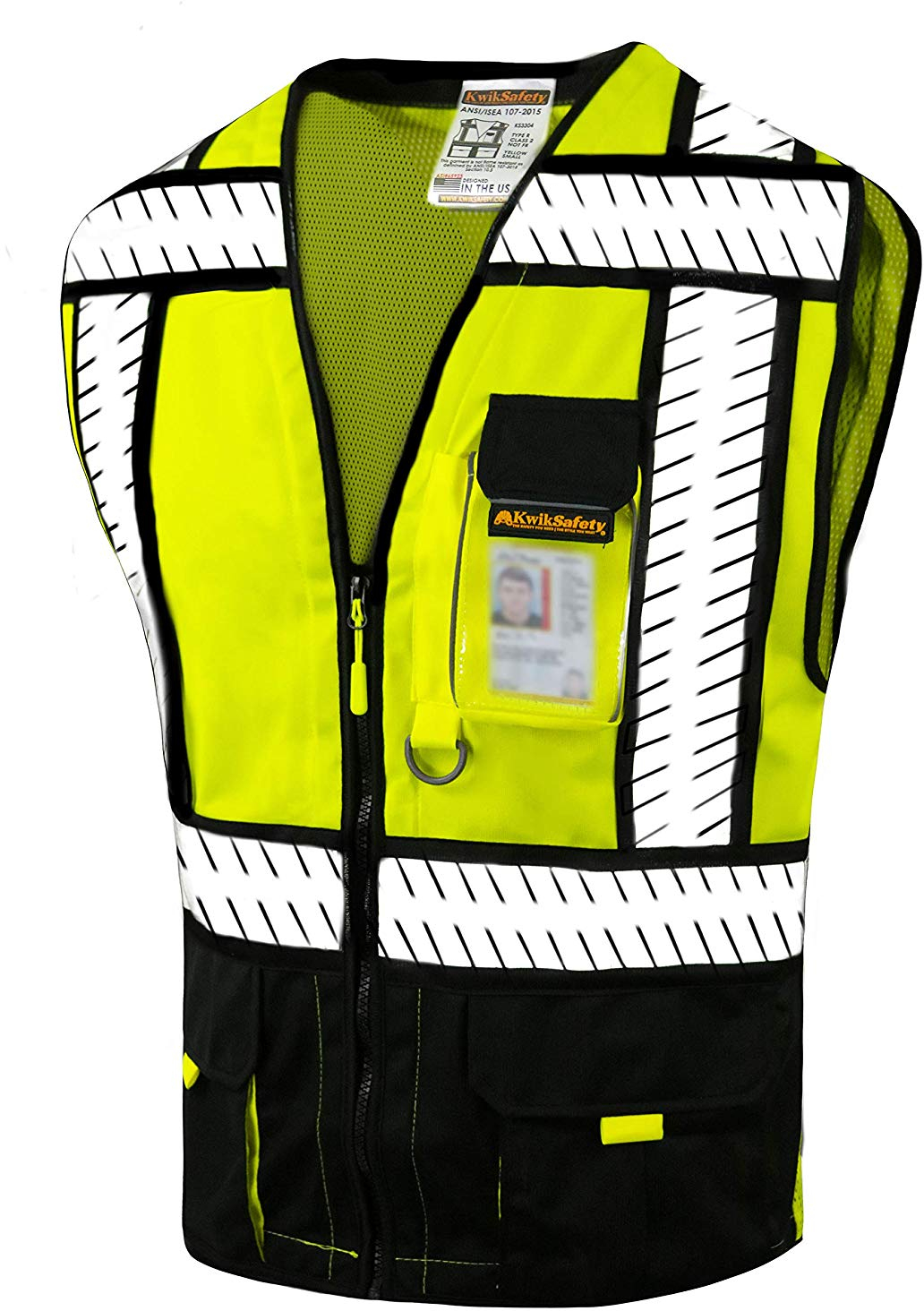 Hi Vis Two Tone Safety Vest With X On The Back Reflective Waistcoat Breathable Mesh Vest Orders Are Welcome. Safety Clothing Security & Protection