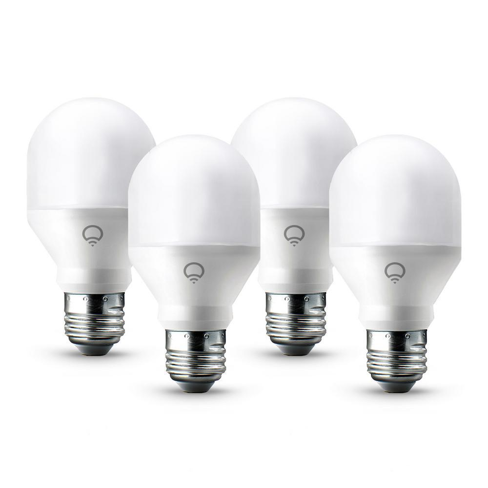 NEW Lifx Mini Multi-color A19 Dimmable Wifi Enabled Smart LED Light Bulbs 4pack