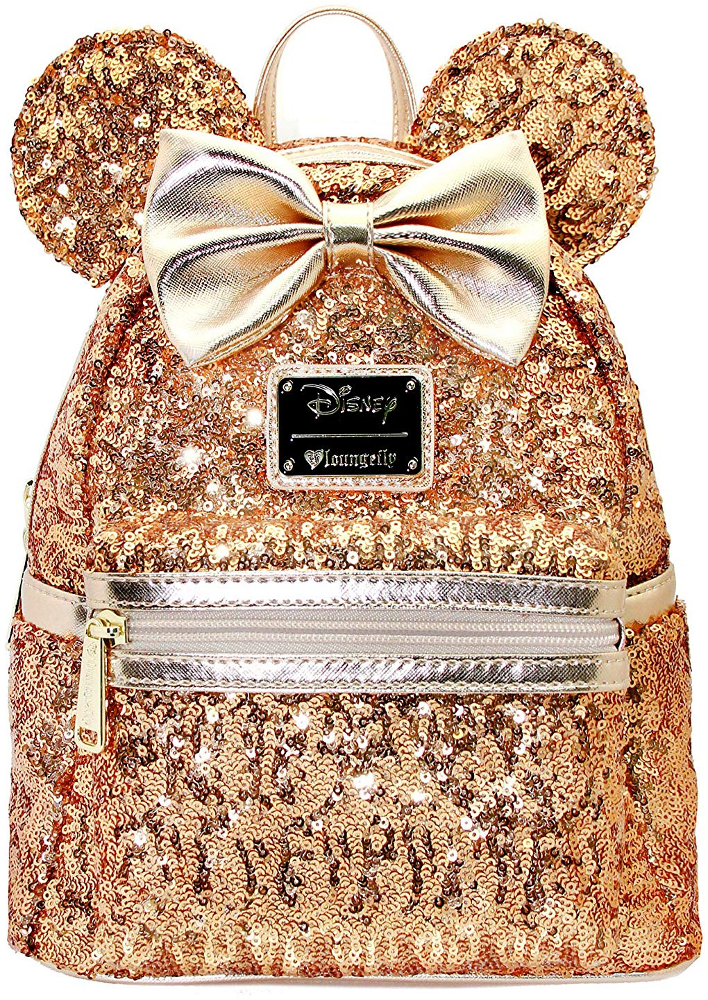 ea40592204c Disney gold sequin minnie mini backpack holiday for her limited edition jpg  1020x1441 Gold sequin backpack