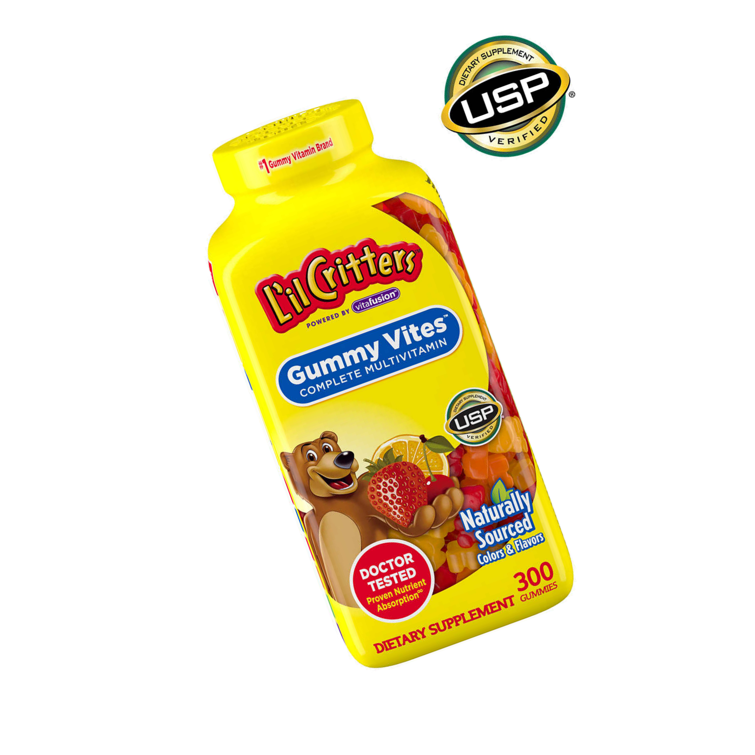 L'il Critters Gummy Vites 300 Gummy Bears Multivitamin For ...