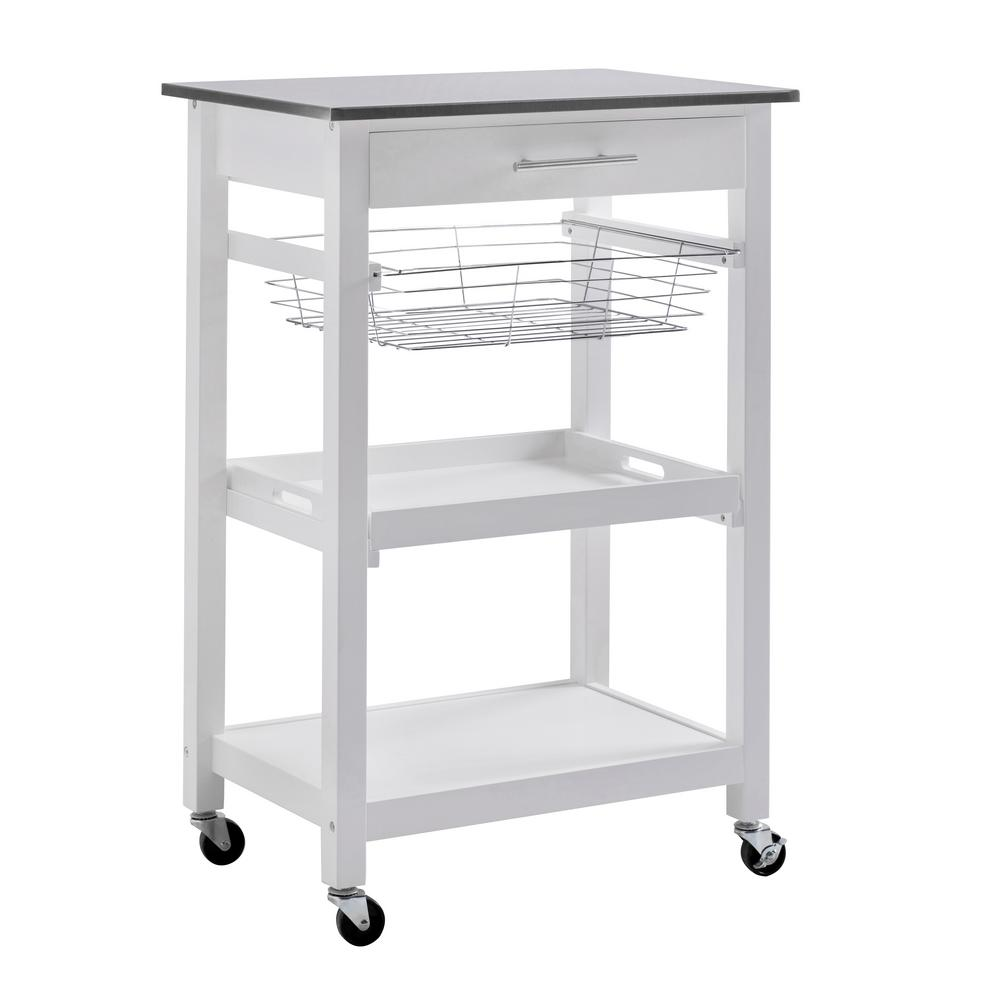 Sunjoy Kitchen Island Cart Storage