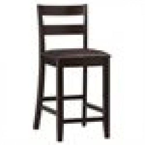 Remarkable Details About Espresso Wood Bar Stool 24 In Seat Height W Back Rest Home Kitchen Counter Forskolin Free Trial Chair Design Images Forskolin Free Trialorg