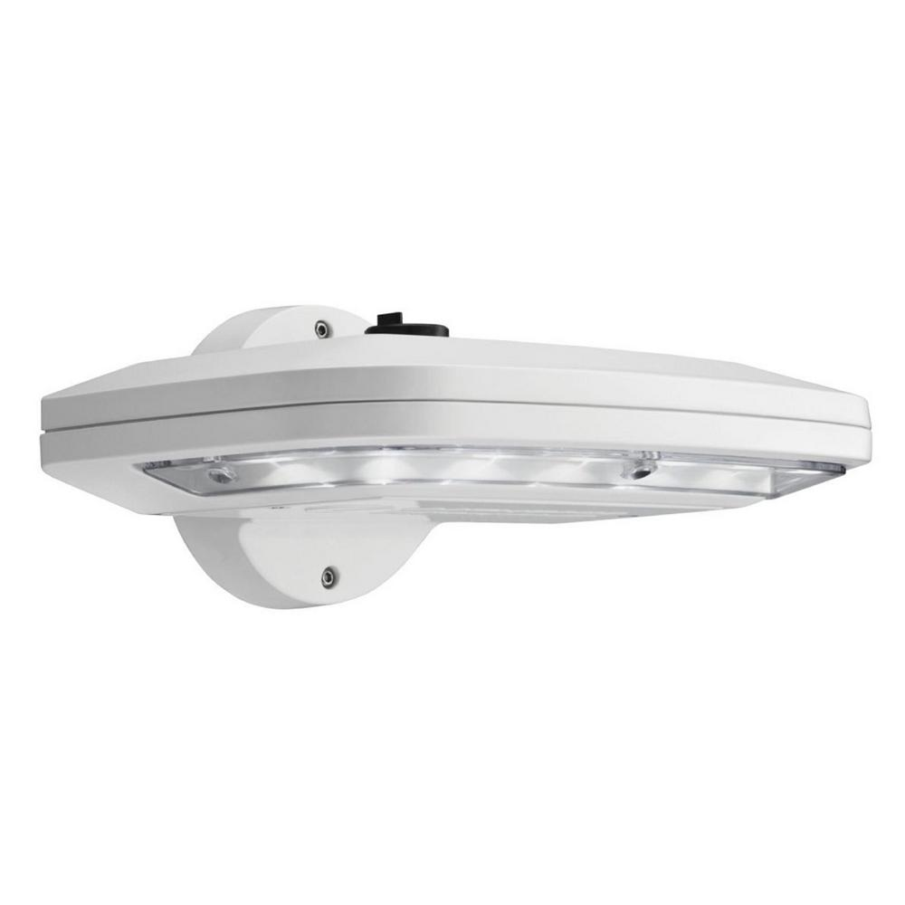 Details About Lithonia Lighting White Outdoor Integrated Led Wall Pack Light With Dusk To