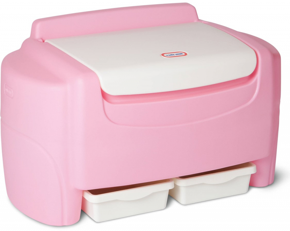 Carnival Toy Box Pink: Little Tikes Pink Sort 'n Store Toy Chest 50743634819