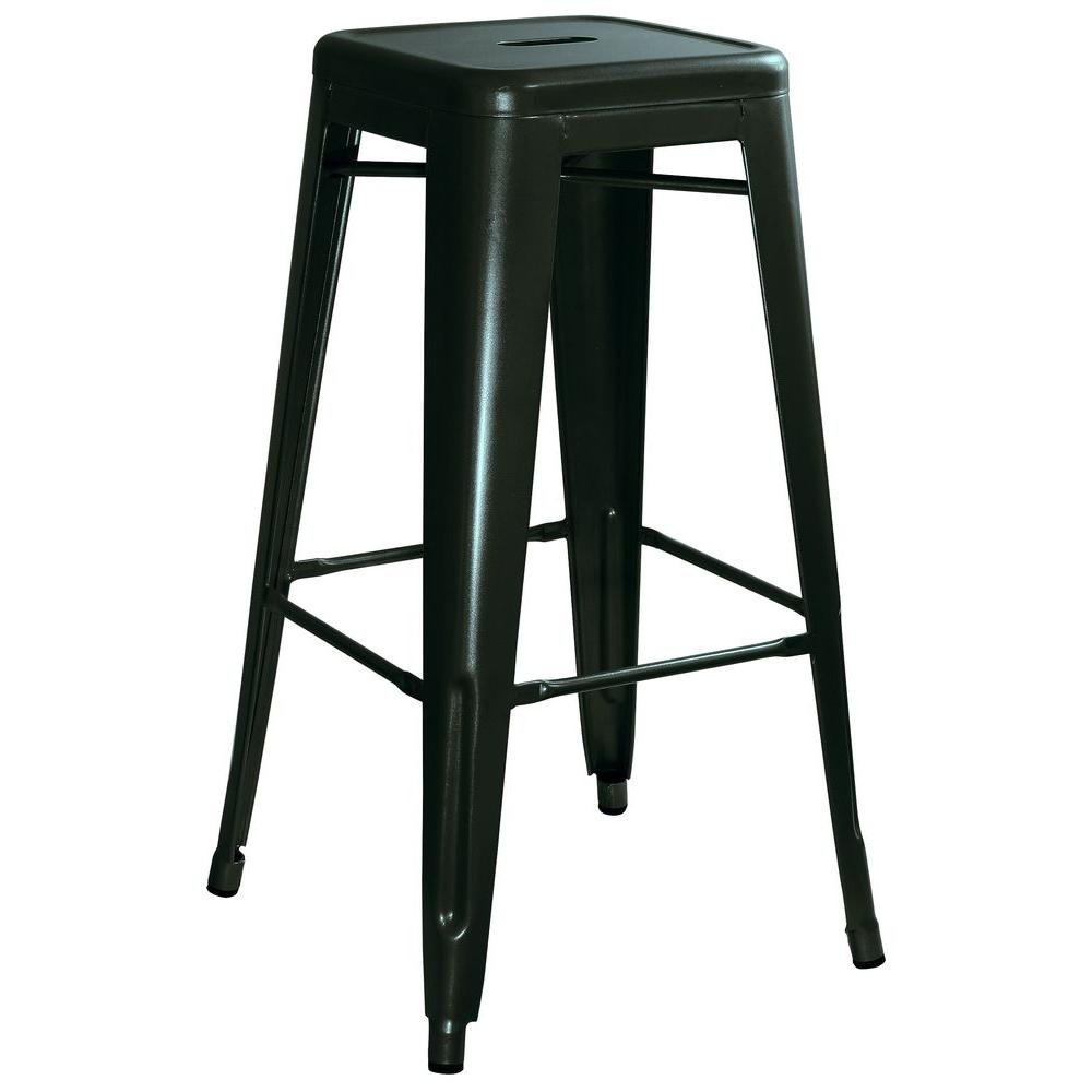 Stupendous Details About 30 In Bar Stool Metal Backless Desgn Stackable With Foot Rest Black Set Of 4 Uwap Interior Chair Design Uwaporg