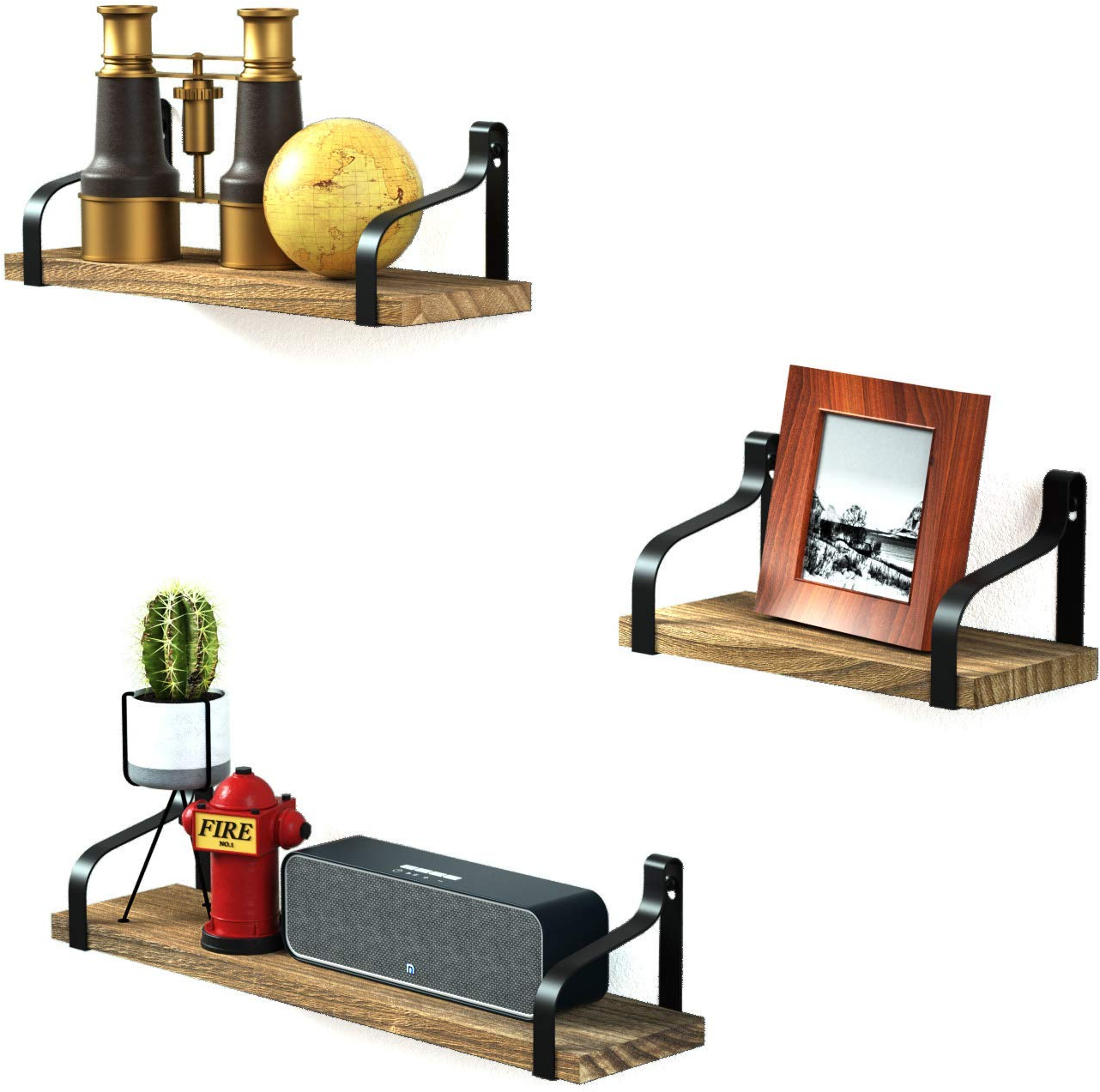 Details About Love Kankei Floating Shelves Decorative Wall Shelf In Retro Style With Iron And