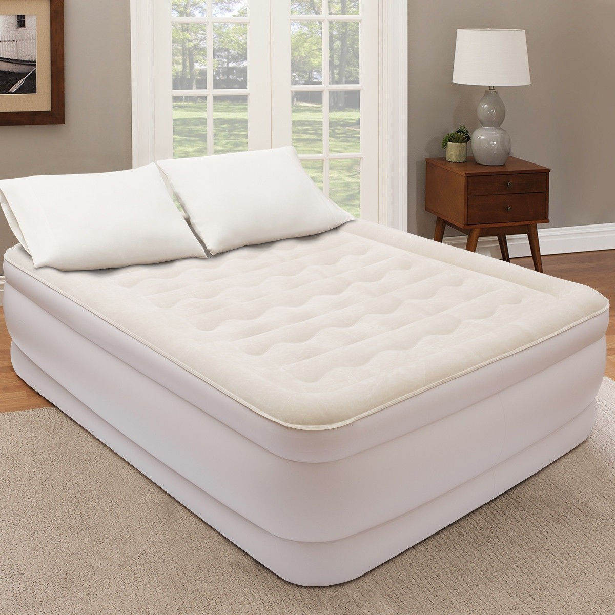 Housse De Canapé Shabby Chic inflatable airbed twin size luxury top raised with electric