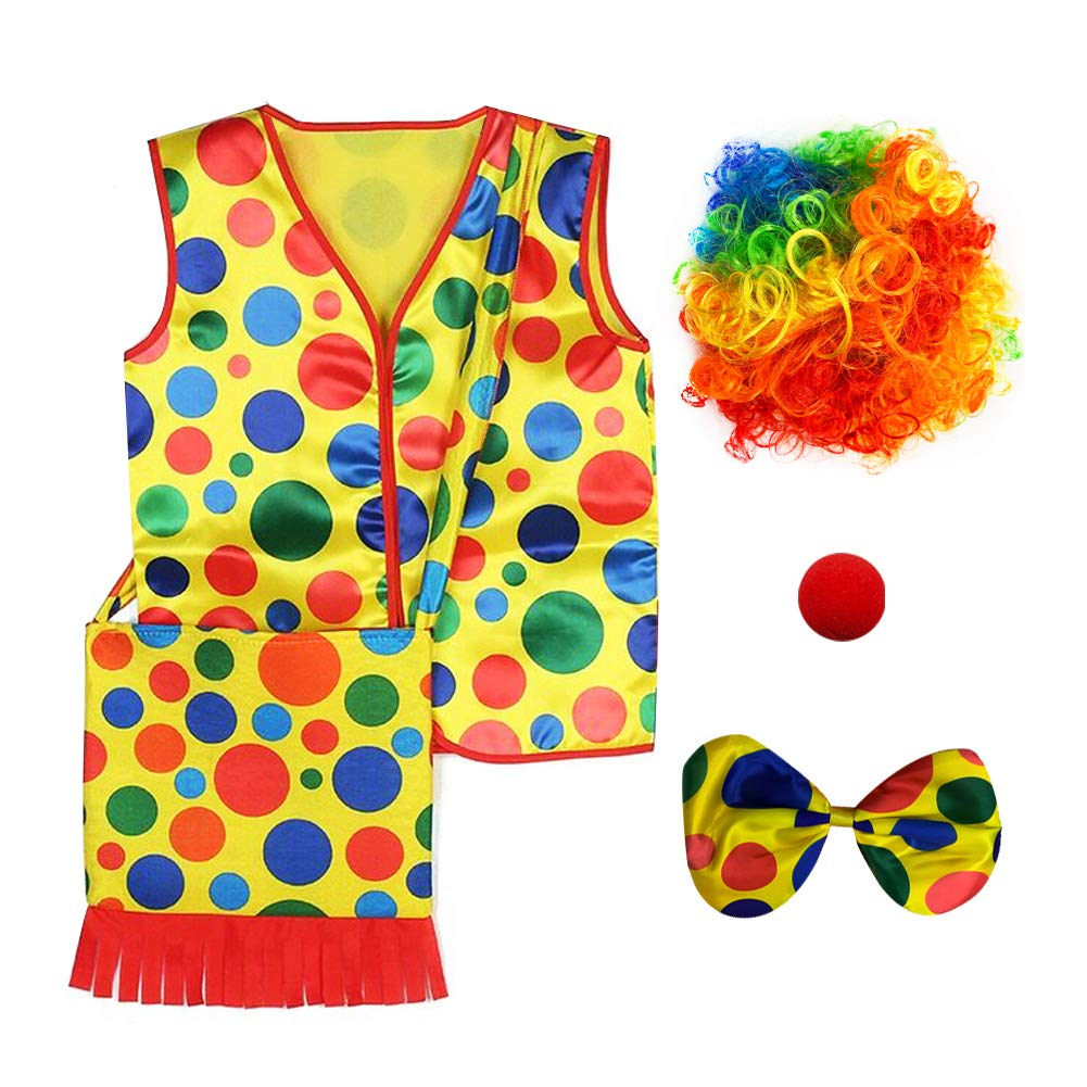 Rainbow Wig Party Chili Clown Costume Nose One Size,