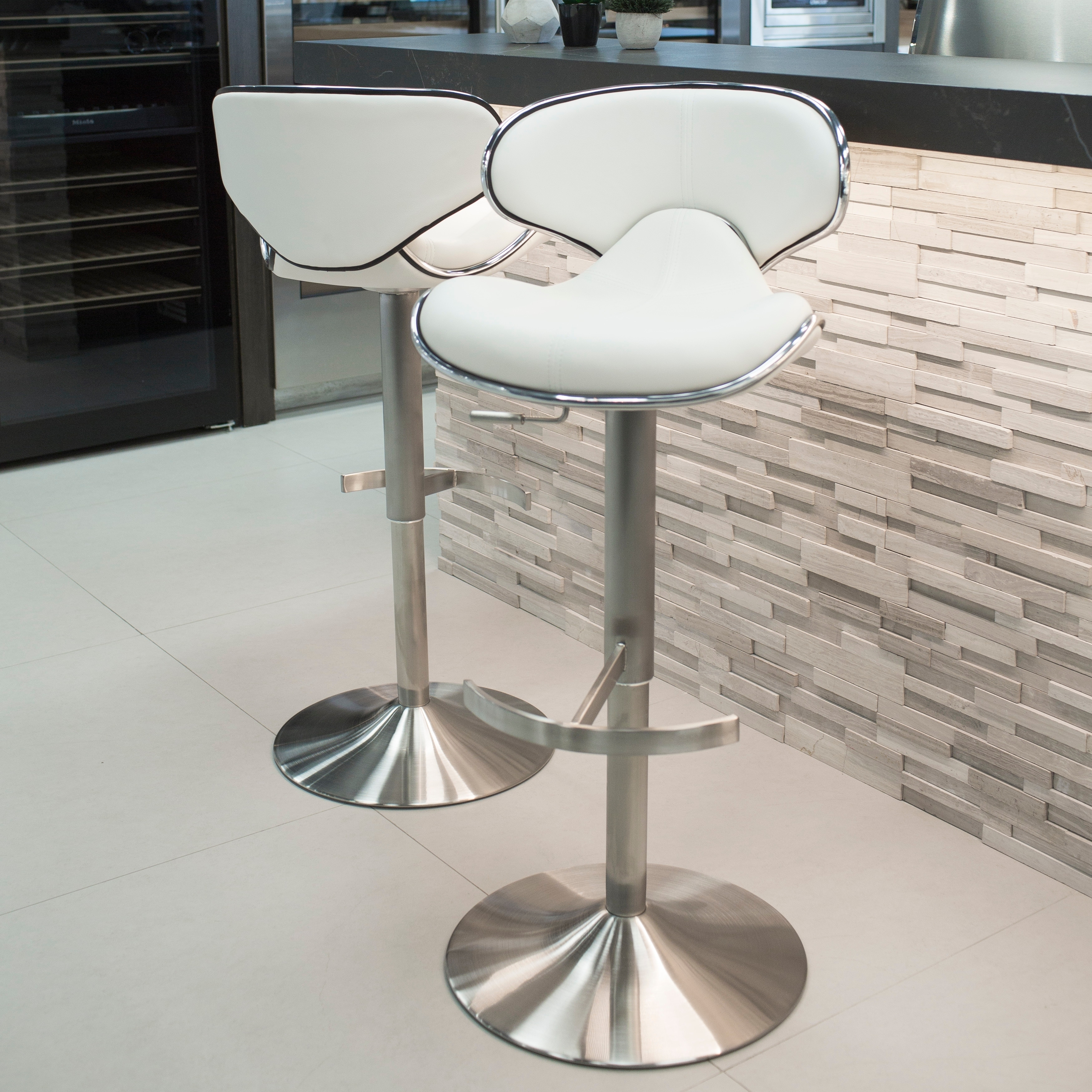 Phenomenal Brushed Stainless Steel Adjustable Height Bar Stool Swivel Squirreltailoven Fun Painted Chair Ideas Images Squirreltailovenorg