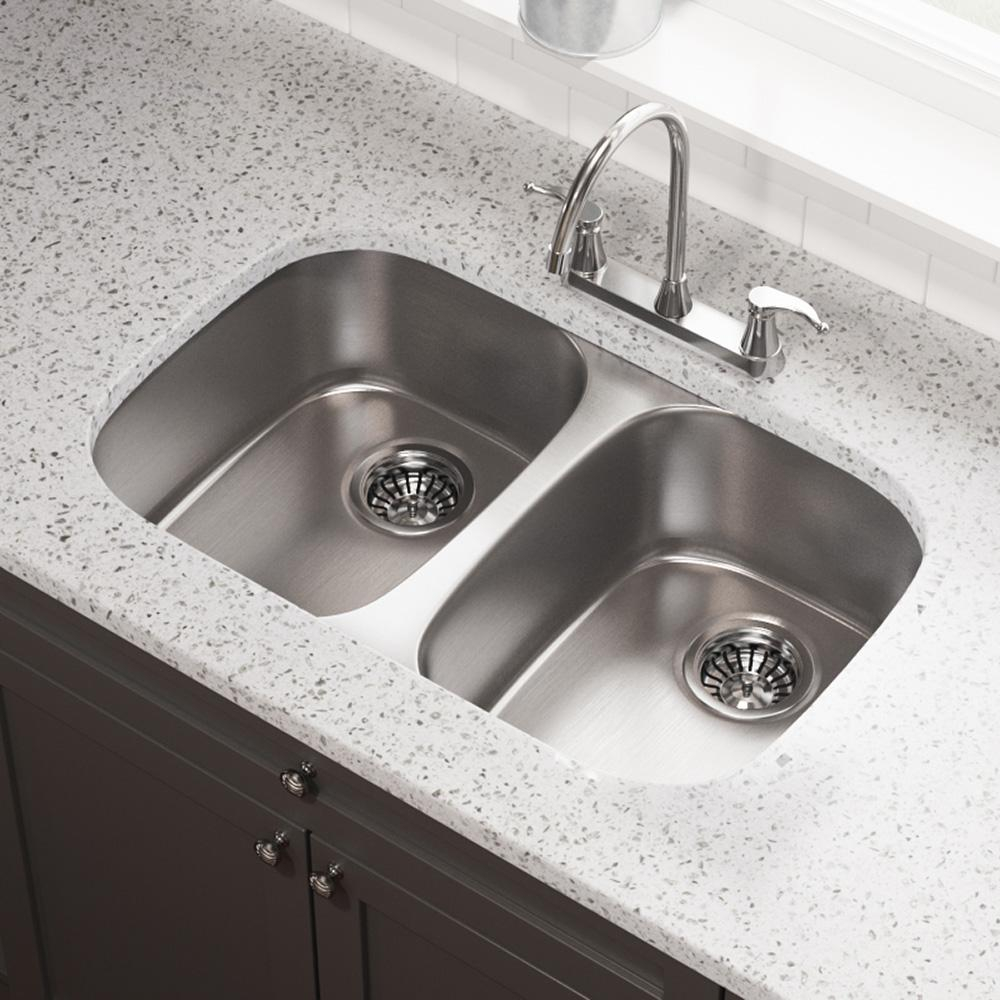 Undermount Double Kitchen Sink.Details About Undermount Double Bowl Kitchen Sink 29in Rectangular Equal Sized Stainless Steel