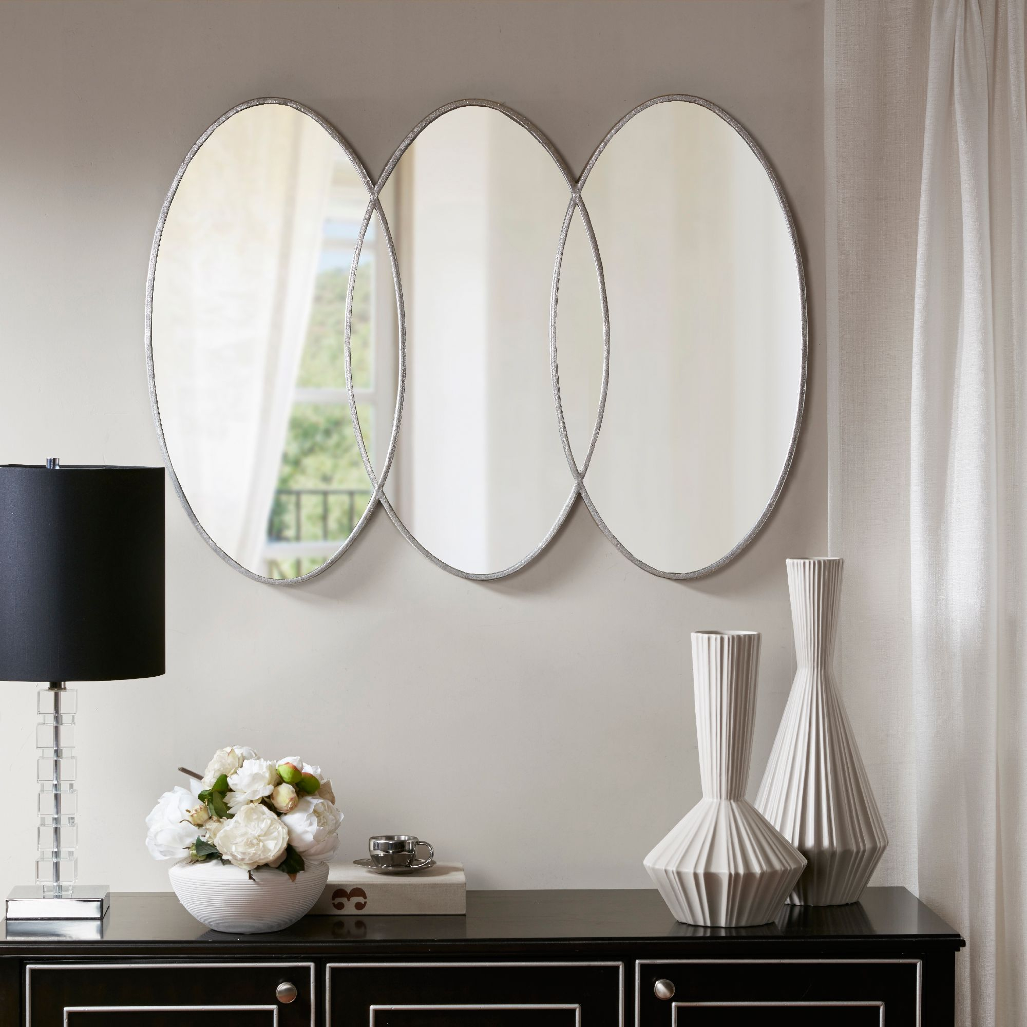 40 inch mirror frameless this contemporary eclipse wall mirror from signature reflects your modern taste while adding dimension to the room carefully constructed with an antique home design 30inch 40inch in