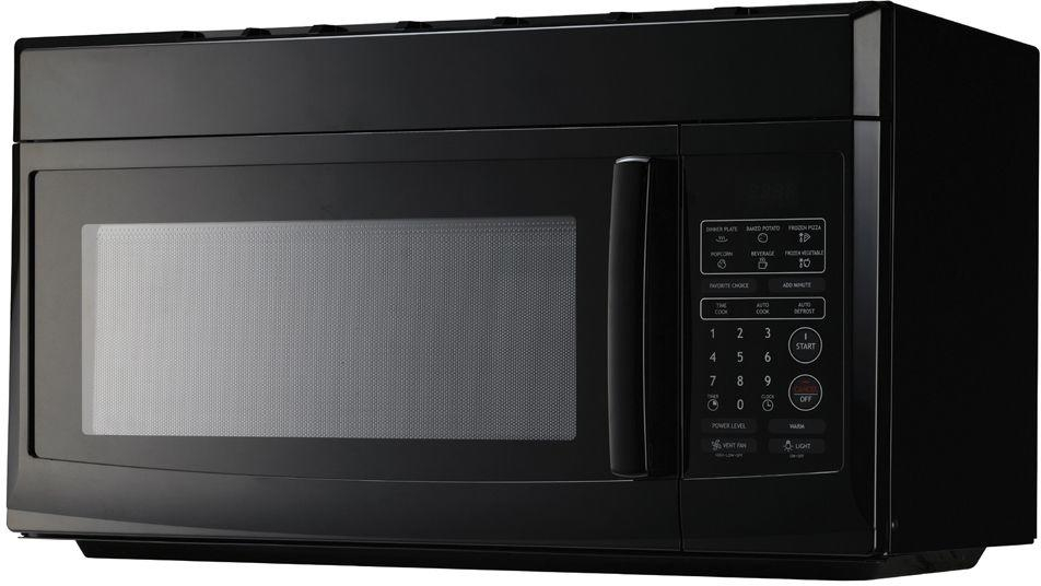 Details about Microwave Over the Range Black w/ Vent Fan Charcoal Filter  Clock Cooktop Light