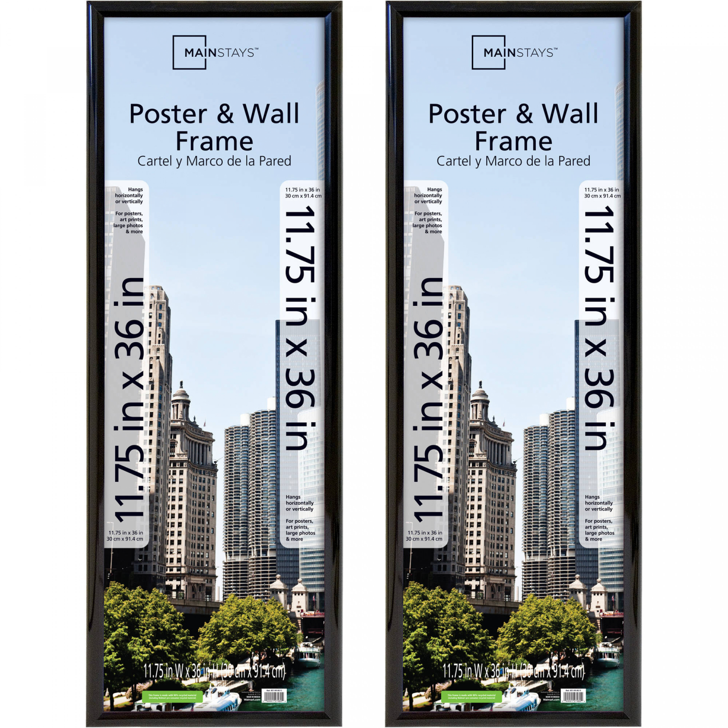Poster And Picture Frame Set Of 2 13x19 Trendsetter Black