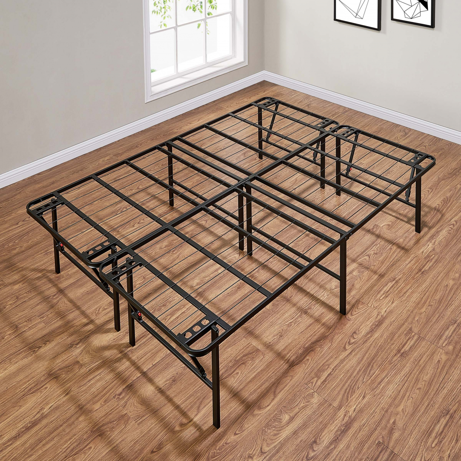 - Queen Size Bed Frame With Tall Legs For Under The Bed Storage