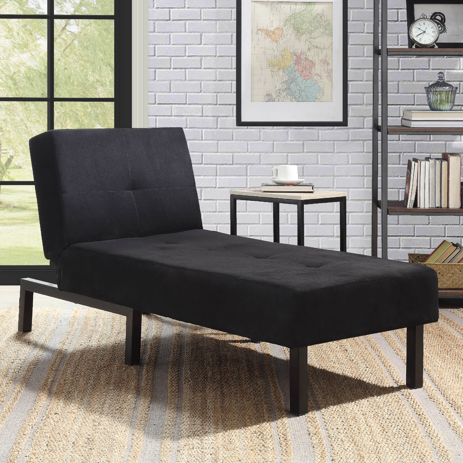 Comfy Accent Chair Living Room Convertible Chaise Lounge