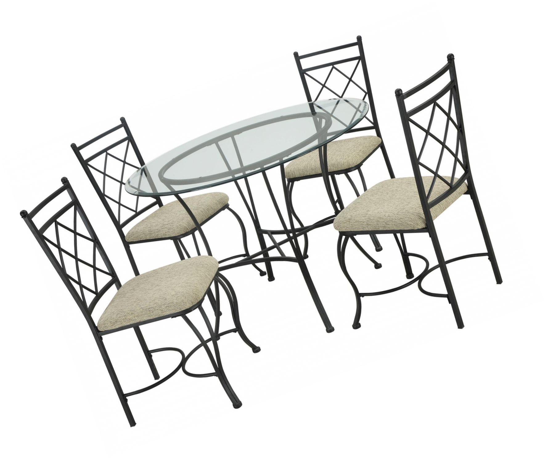 Dining Room Table Set Round Glass Kitchen Tables And Chairs Sets Modern 5-Piece