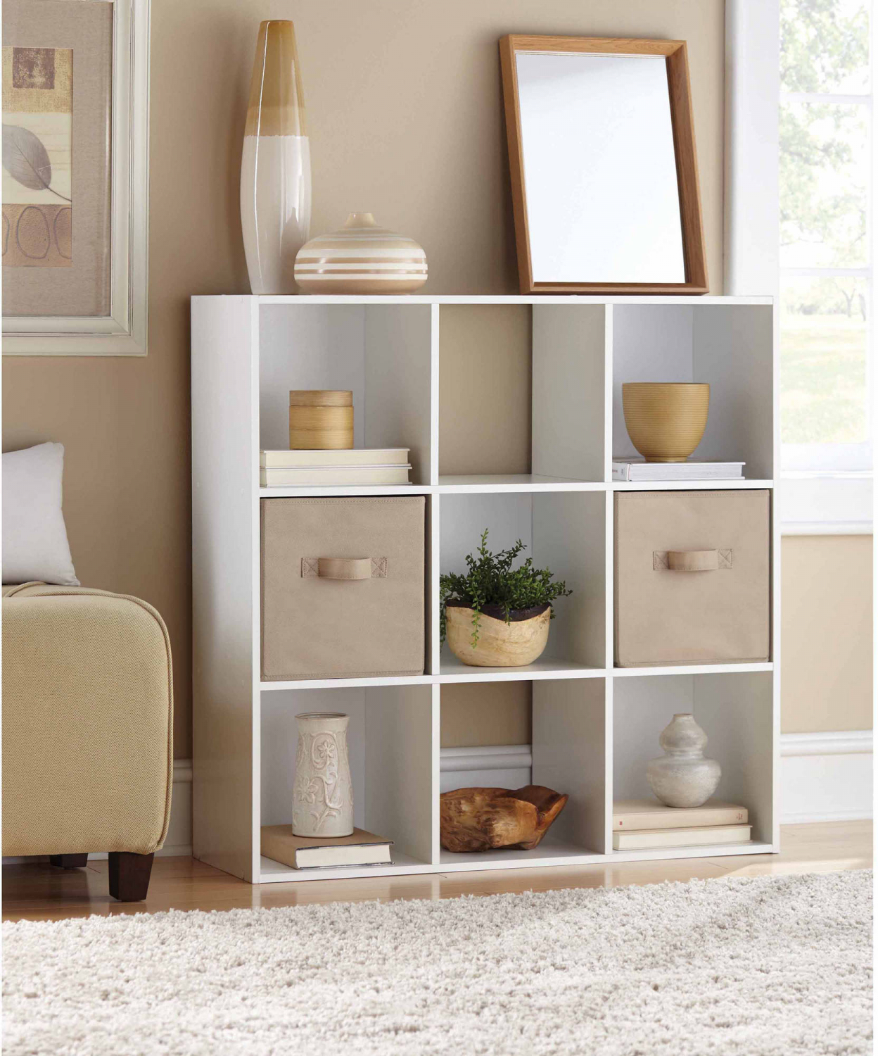 Details about 9 Cube Storage Organizer Book Shelf Office Apartment Home  Dorm Bedroom Furniture