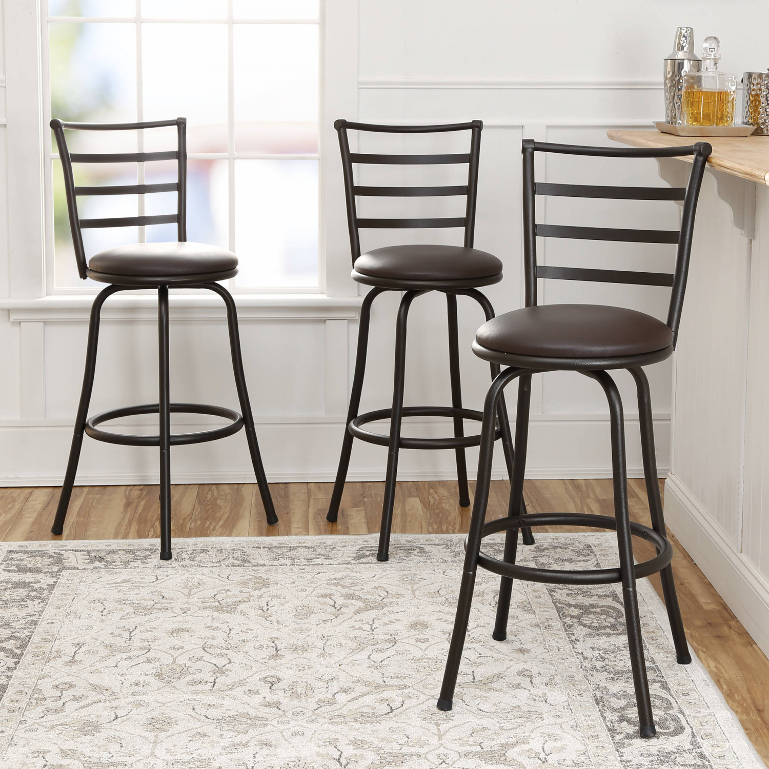 swivel bar stools adjustable counter height kitchen dining