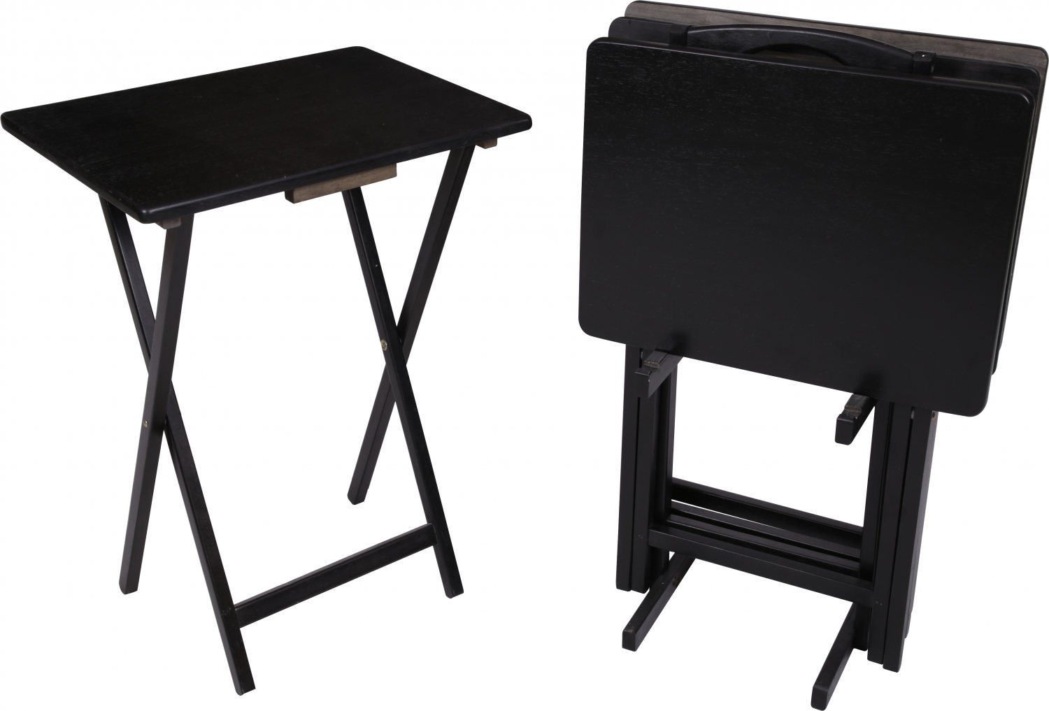 Remarkable Details About 5 Piece Folding Tv 4 Tray Stand Set Wood Dinner Black Side Table Easy Clean Spiritservingveterans Wood Chair Design Ideas Spiritservingveteransorg