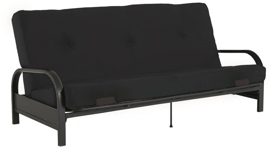 Details About Mainstays Black Metal Arm Futon With Full Size Mattress