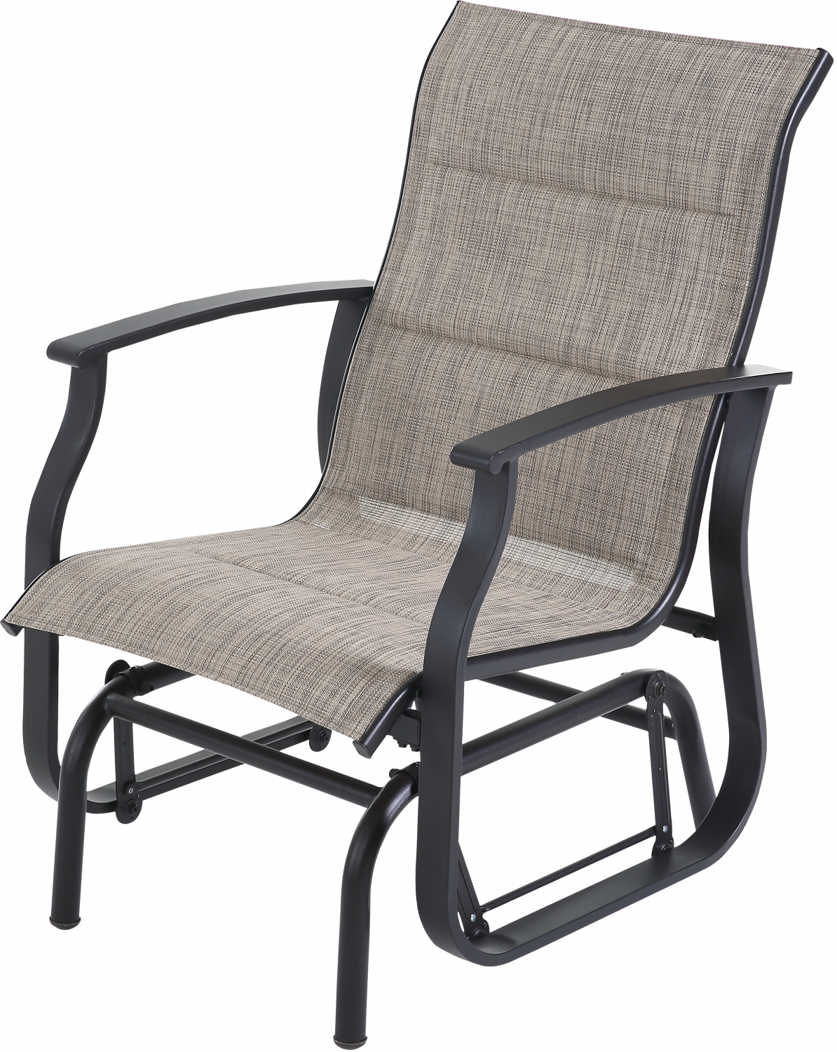 Fantastic Details About Outdoor Glider Chair Padded Fabric Single Patio Seat Sturdy Steel Smooth Gliding Spiritservingveterans Wood Chair Design Ideas Spiritservingveteransorg