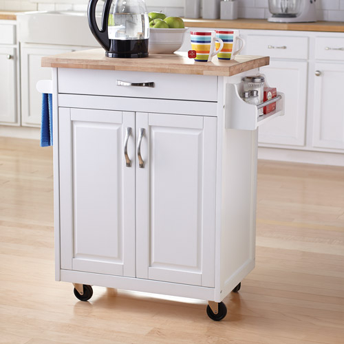Details about Kitchen Island Cart Rolling Wood Islands White On Wheels With  Storage Movable
