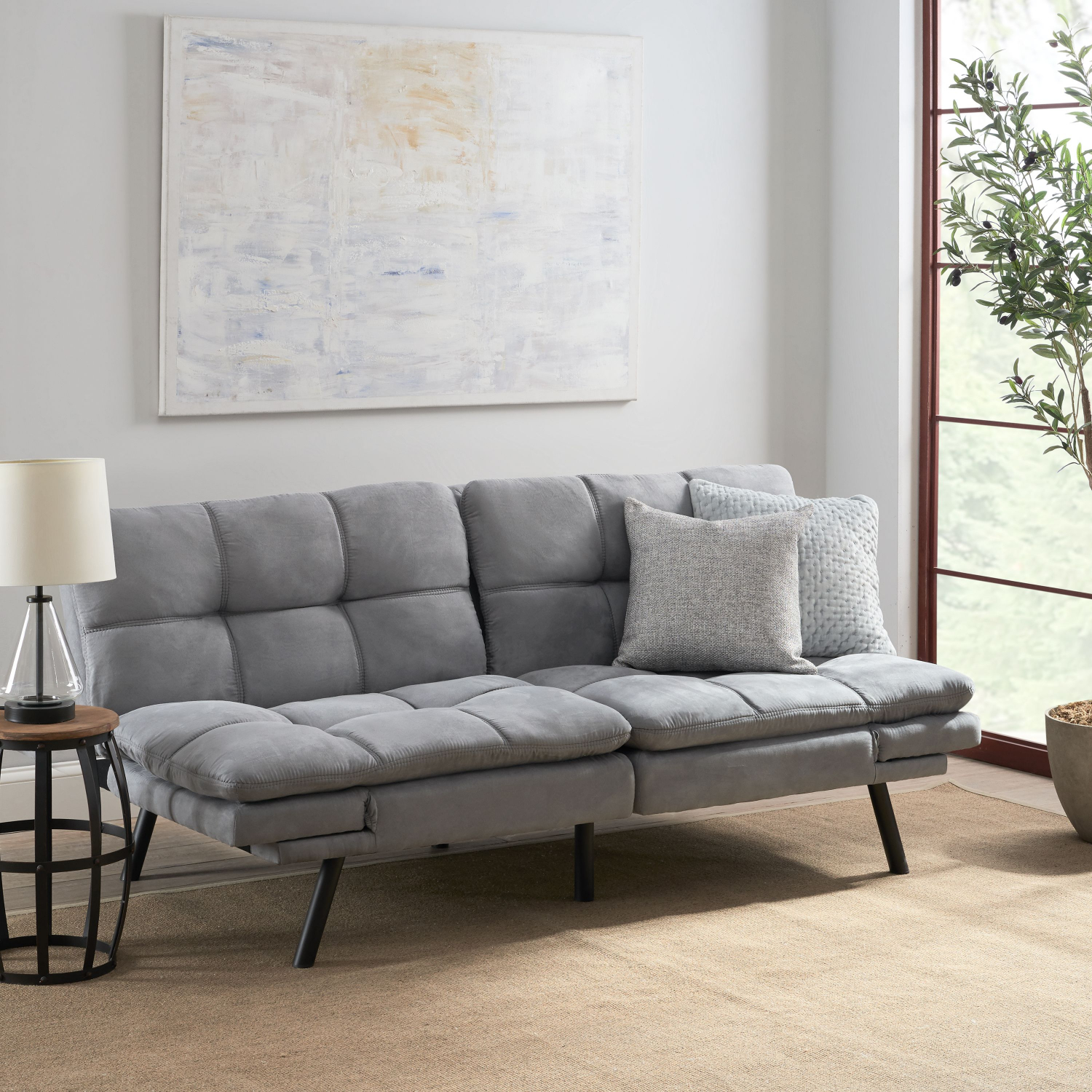 Memory Foam Futon Sofa Bed Couch Sleeper Convertible ...