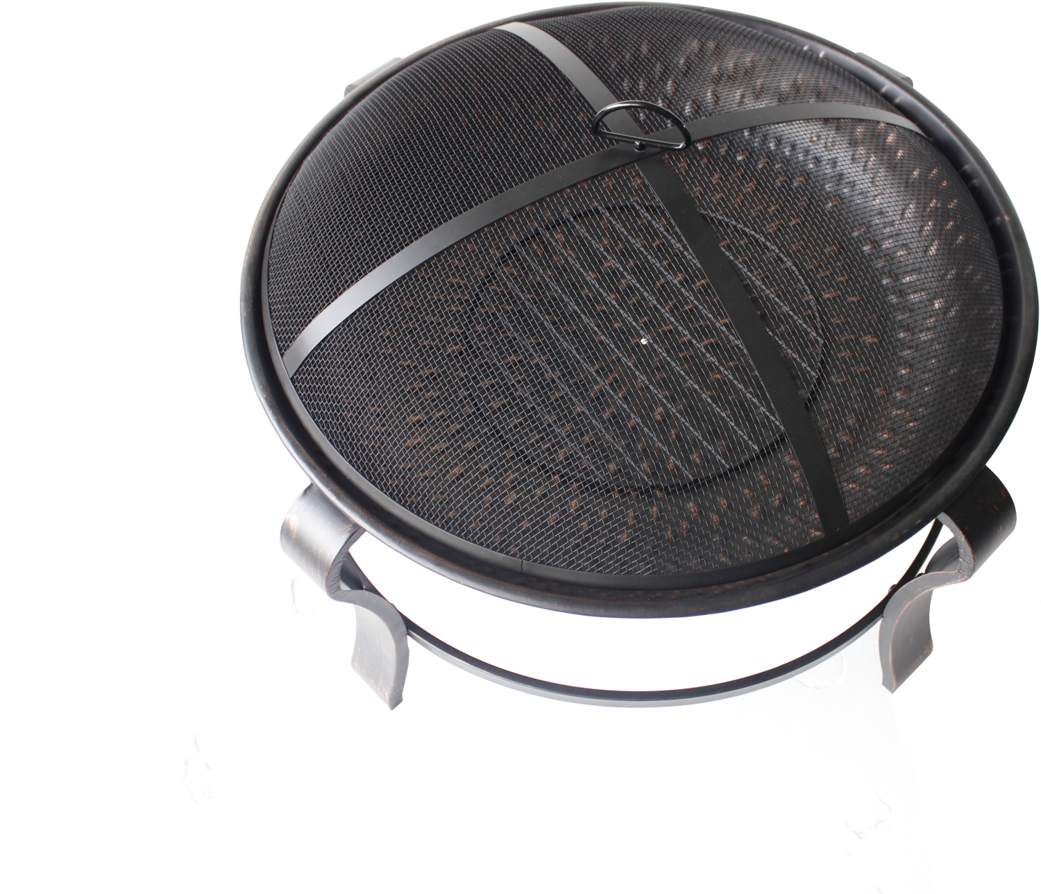 Round Wood Burning Fire Pit Owen Park 28 inch with Mesh ...