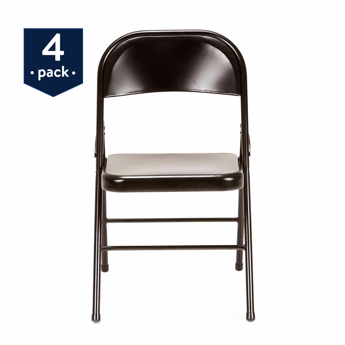 Details about Mainstays Steel Folding Chair (9-Pack), Black