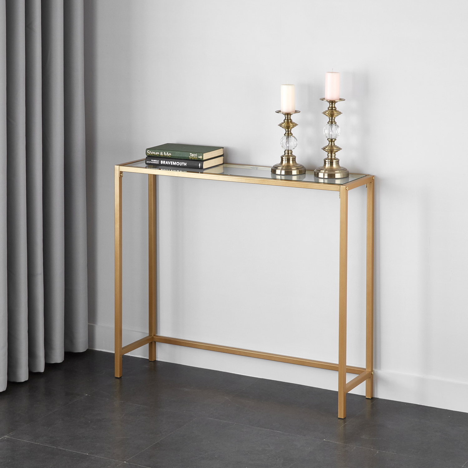 Superbe Details About Slim Console Table Entryway Sofa Gold Modern Narrow Glass  Small Living Room Hall