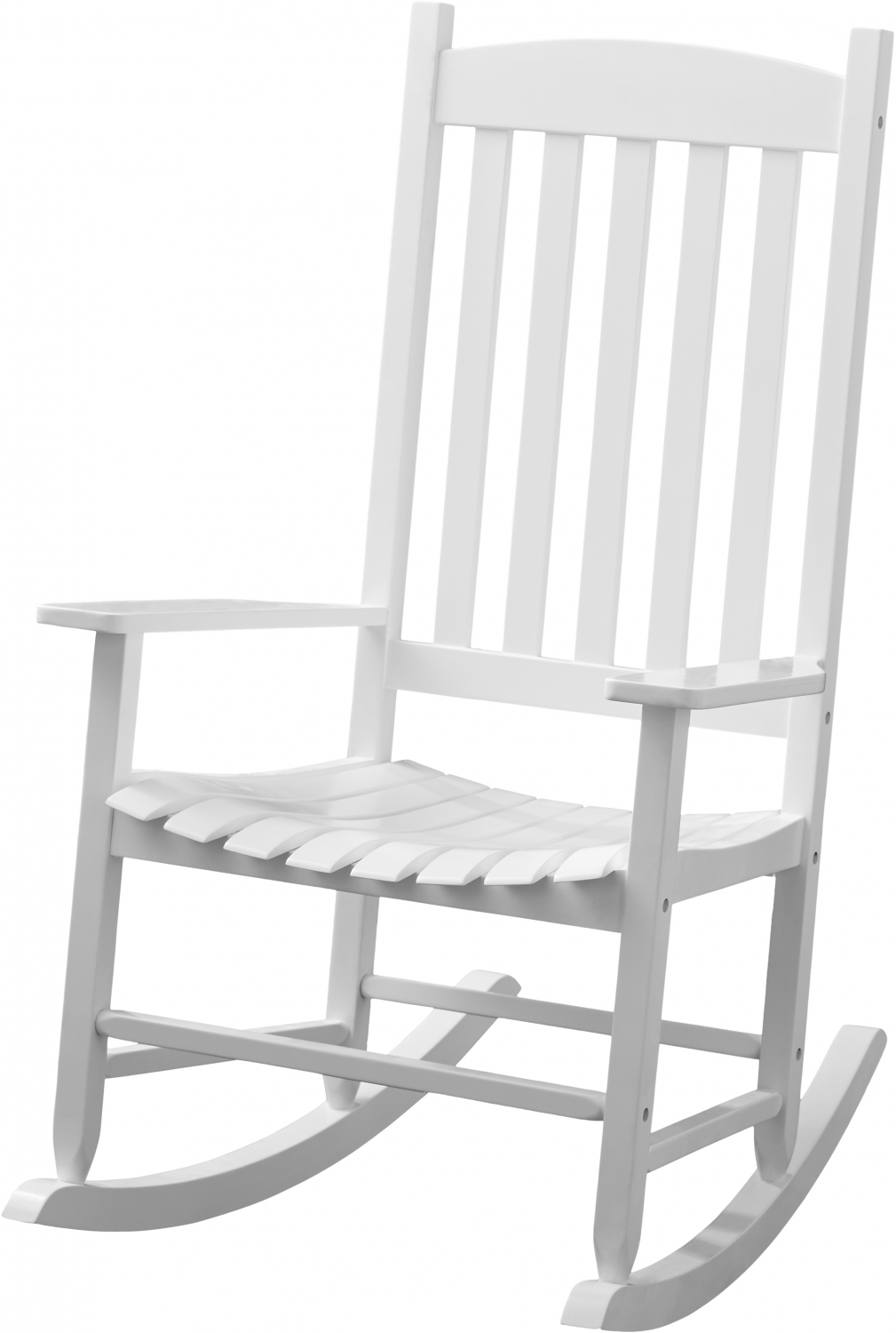 Details About Solid Wood Slat Outdoor Rocking Chair Patio Porch Deck Chair Classic High Back