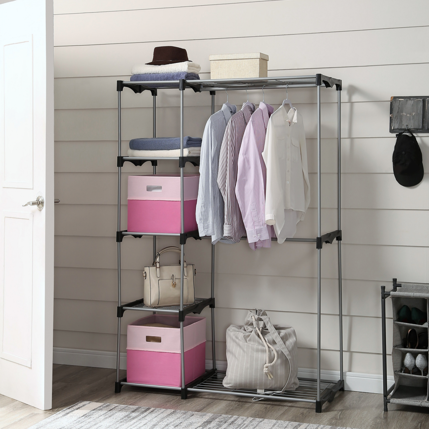 Details About Mainstays Wire Shelf Closet Organizer 2 Tier Easy To Assemble