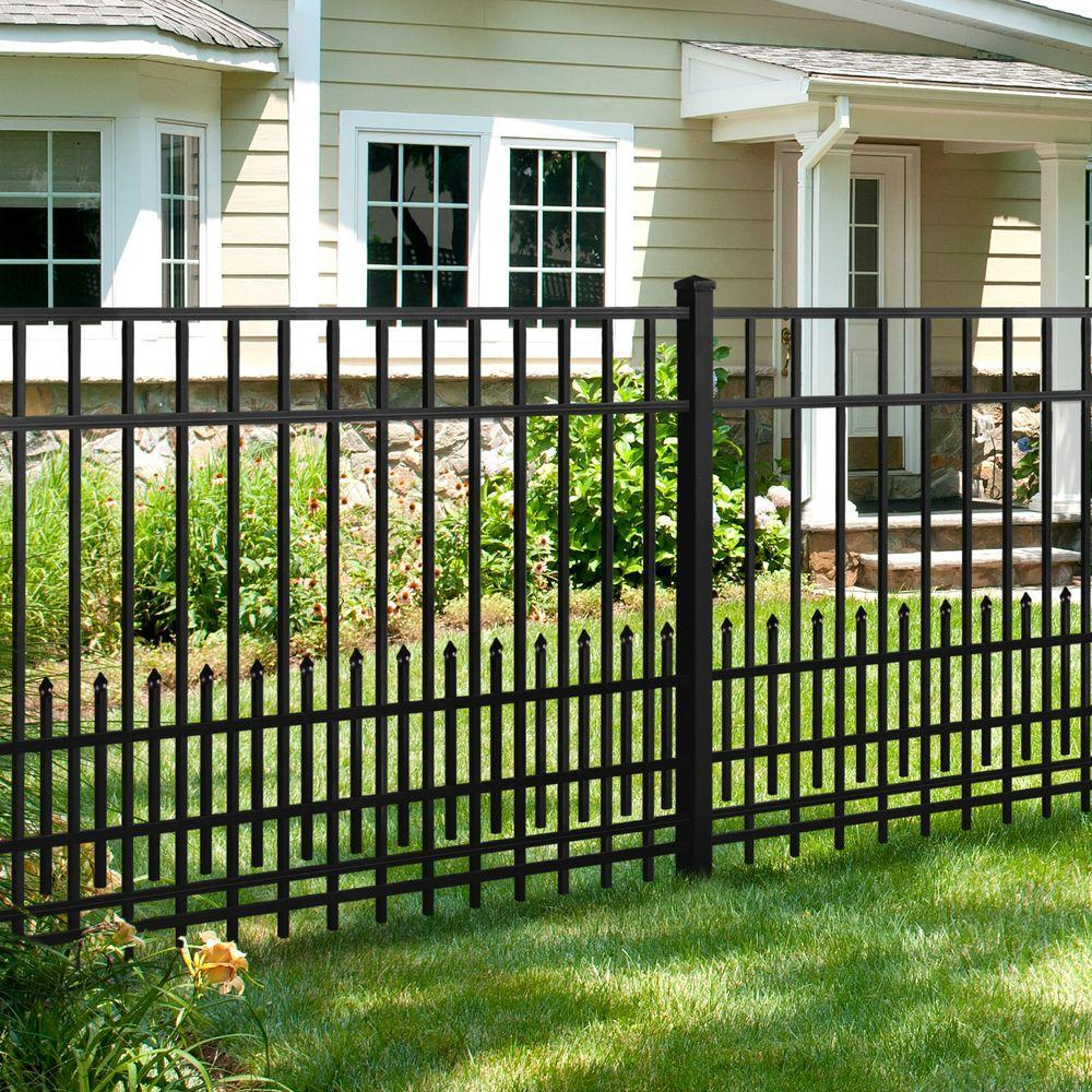 Aluminum Fence Panel Puppy Guard Add-On Panel in Black 3/4 ...