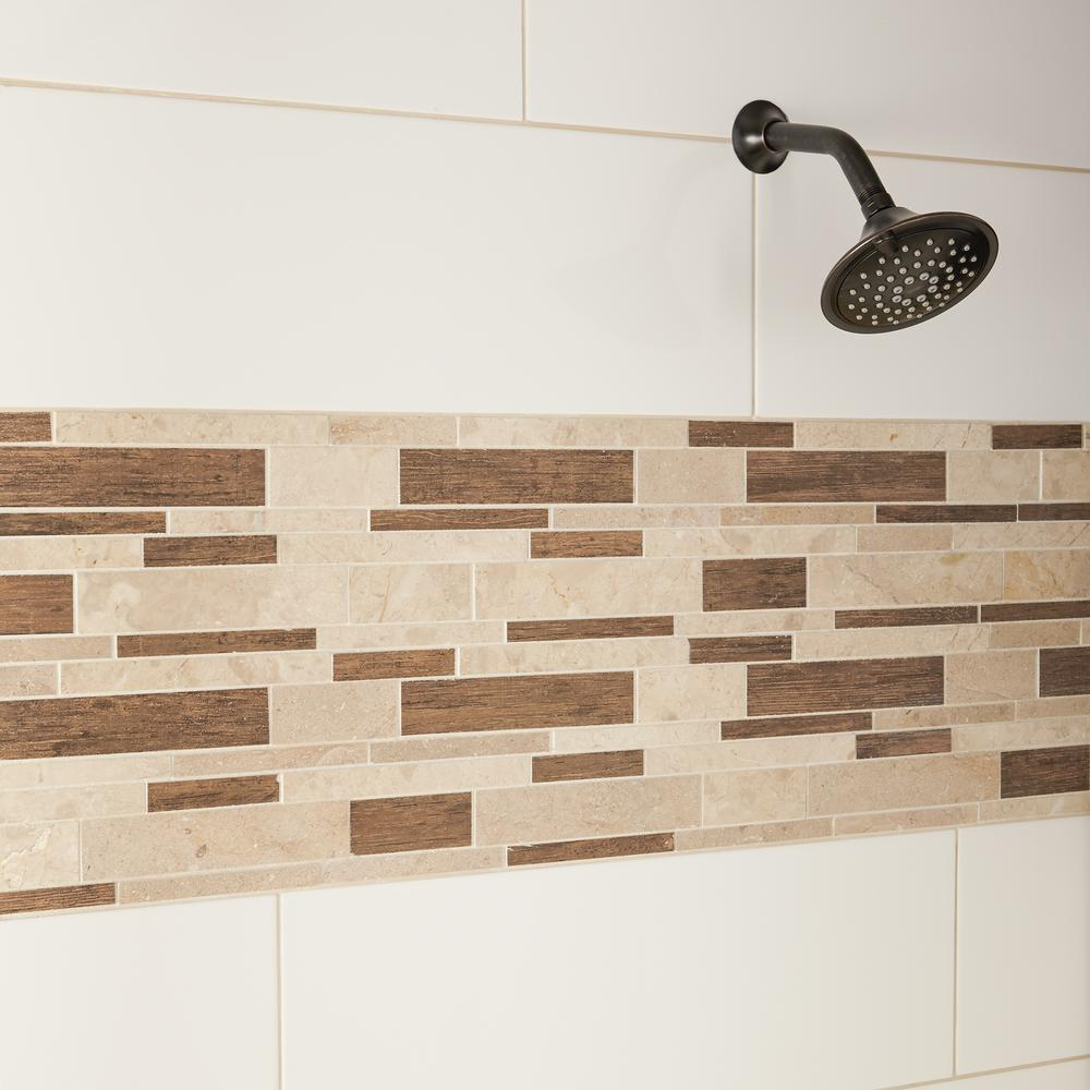 Wall Tile Porcelain Linear Mosaic
