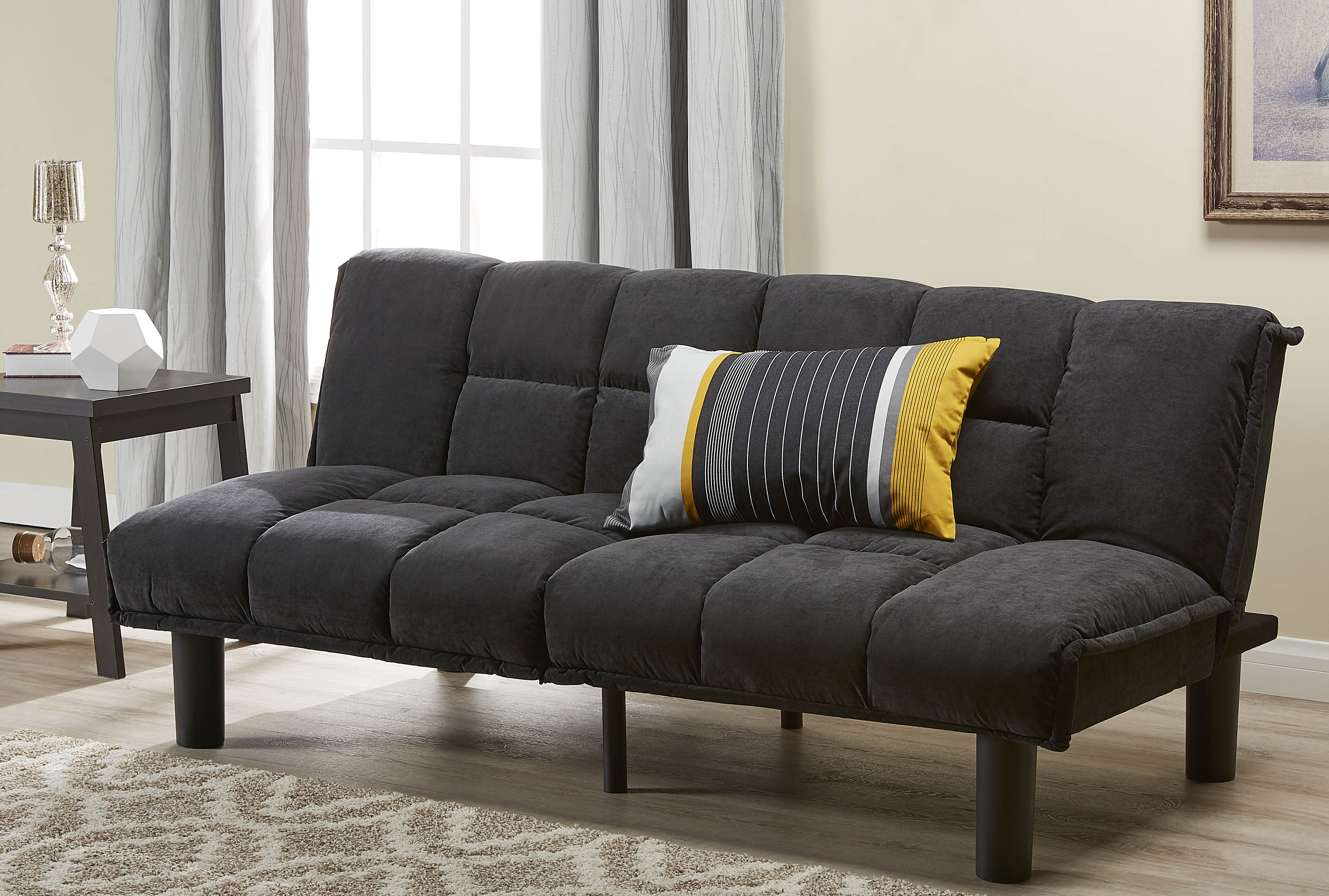Memory Foam Futon Sofa Bed Couch Sleeper Convertible Frame ...