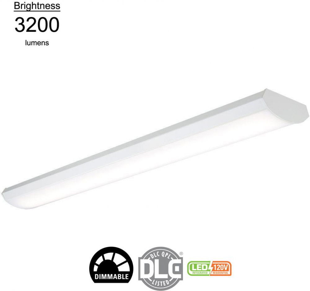 4 Ft Cooper Lighting 4 Lamp Fluorescent Lamp Wraparound Light Fixture 32 Watt Long Surface Mounted