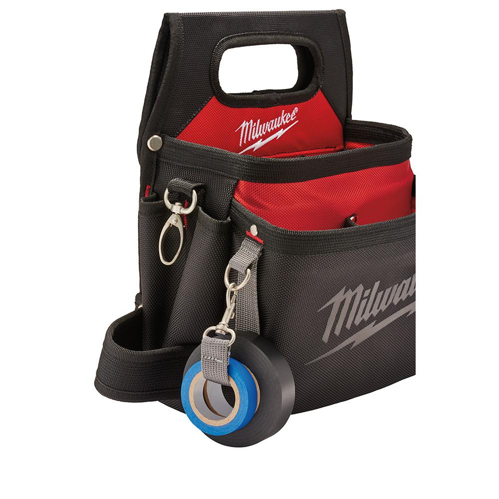 MILWAUKEE Electricians Tool Pouch Holster Adjustable Belt 15 Pocket