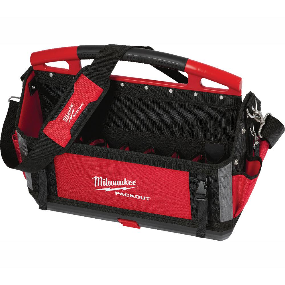 Details About Tool Bag Tote 15in Storage Organizer 31 Pockets Shoulder Strap Milwaukee Packout