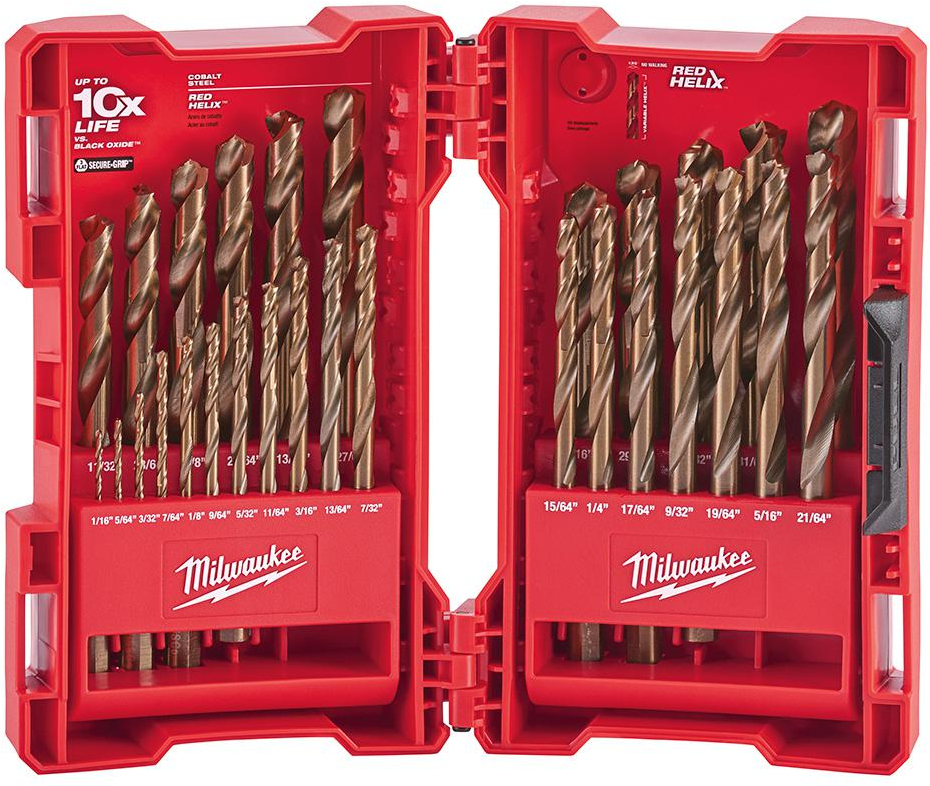 19//64 High Speed Cobalt Drill Bit Pack of 6