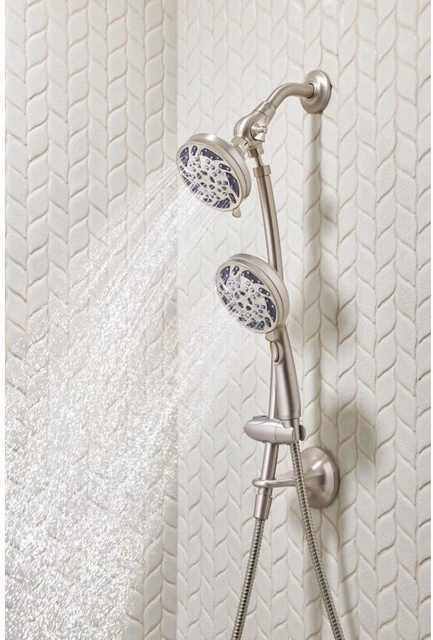Moen Spot Resist Brushed Nickel 5 Spray Shower Head And Handheld