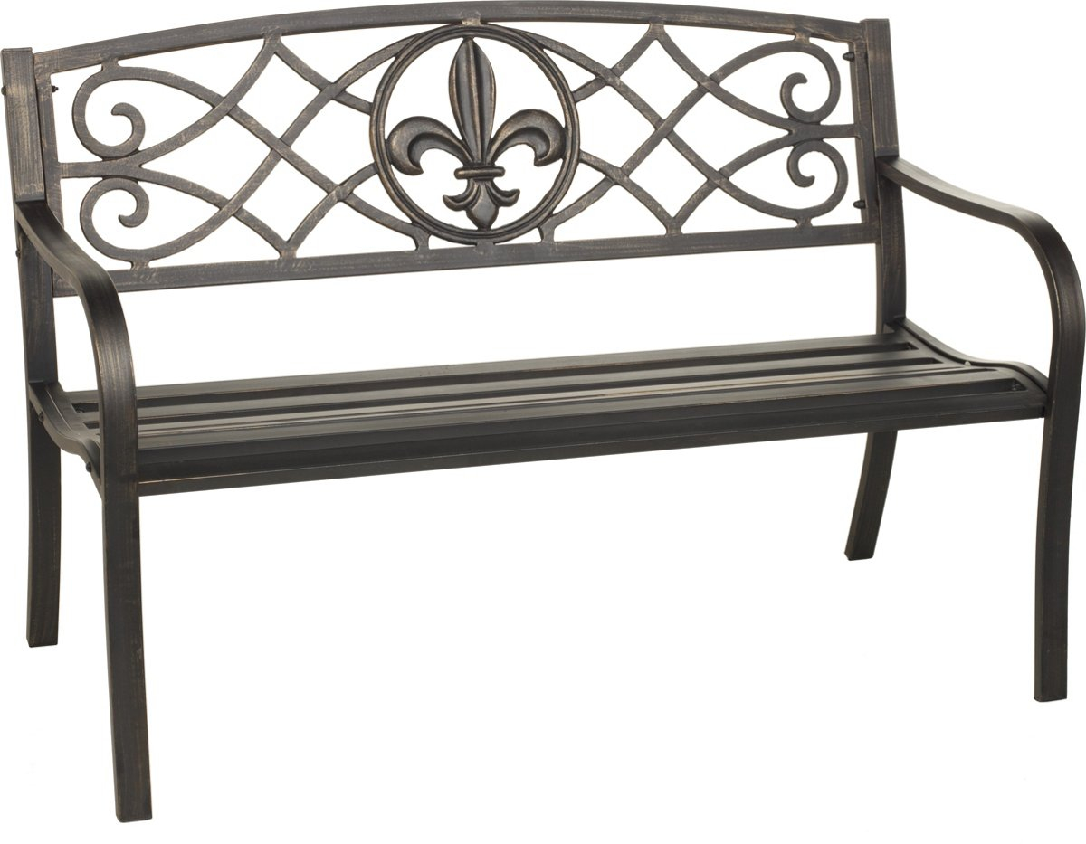 Groovy Details About Park Bench Outdoor Metal Garden Porch Chairs Furniture Patio Small Antique Fleur Caraccident5 Cool Chair Designs And Ideas Caraccident5Info
