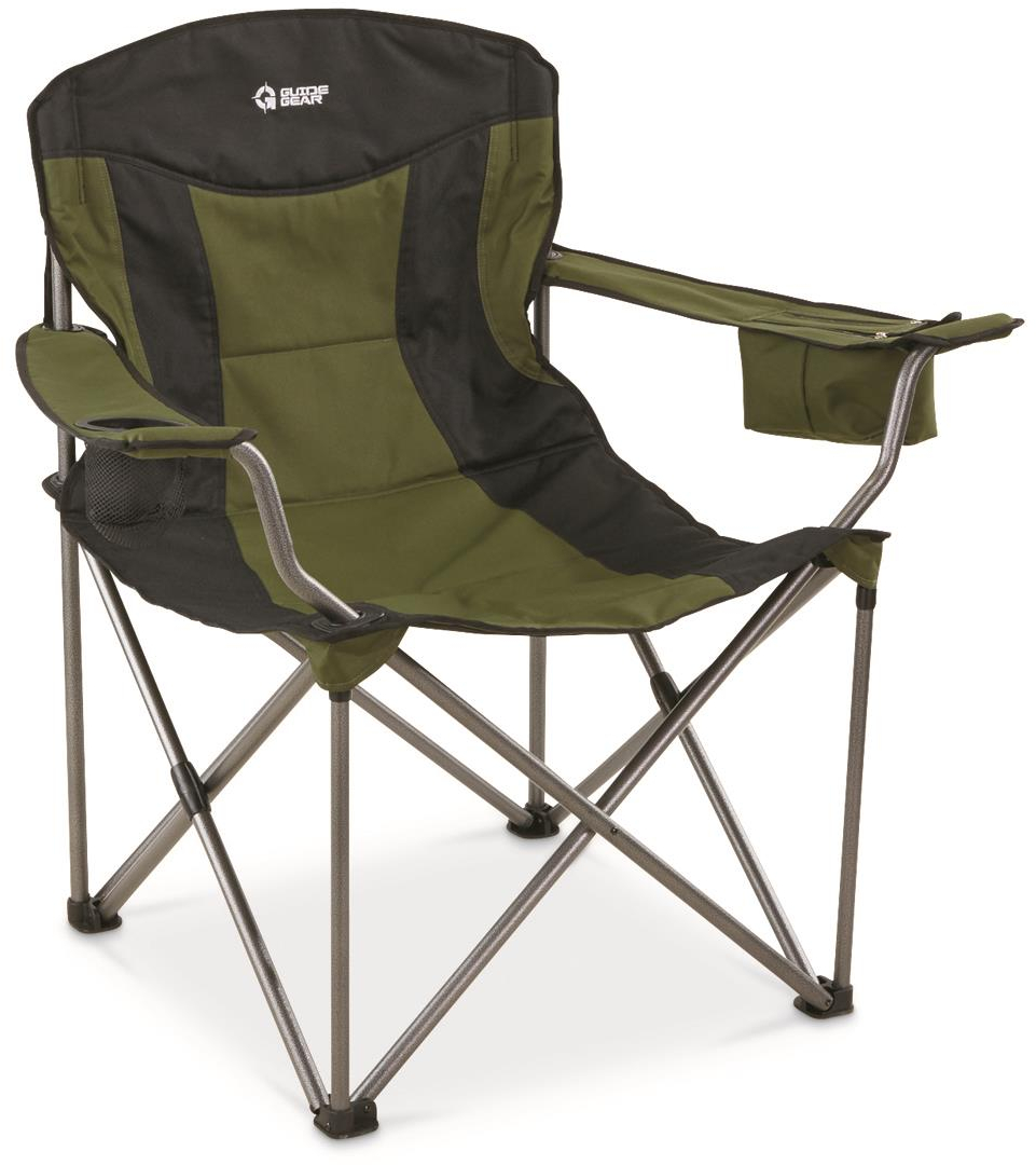 Excellent Details About New Guide Gear Oversized Xxl Camp Chair 600 Lb Capacity Green Black Andrewgaddart Wooden Chair Designs For Living Room Andrewgaddartcom