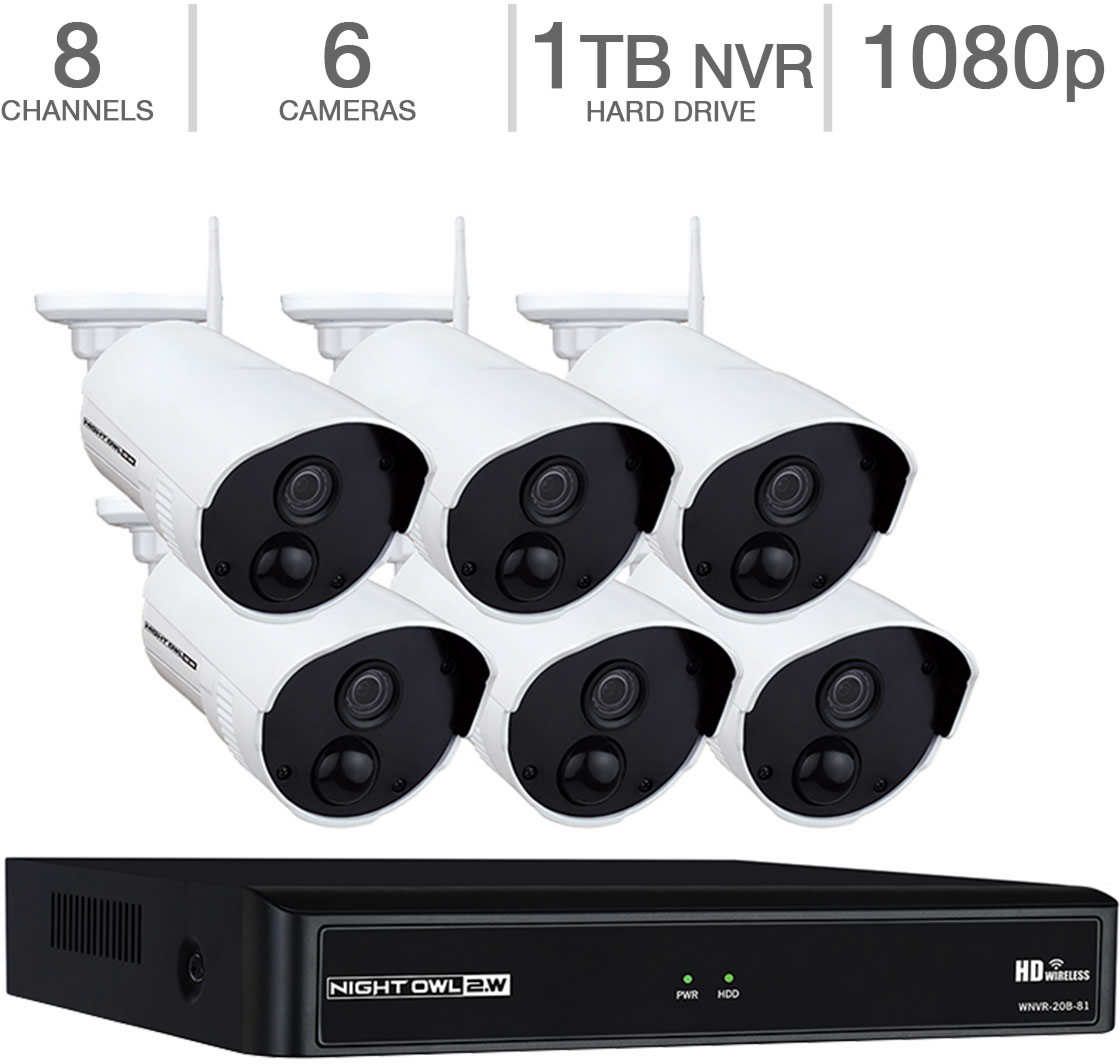 Night Owl 8-Channel 1080p Wireless Smart Security Hub with